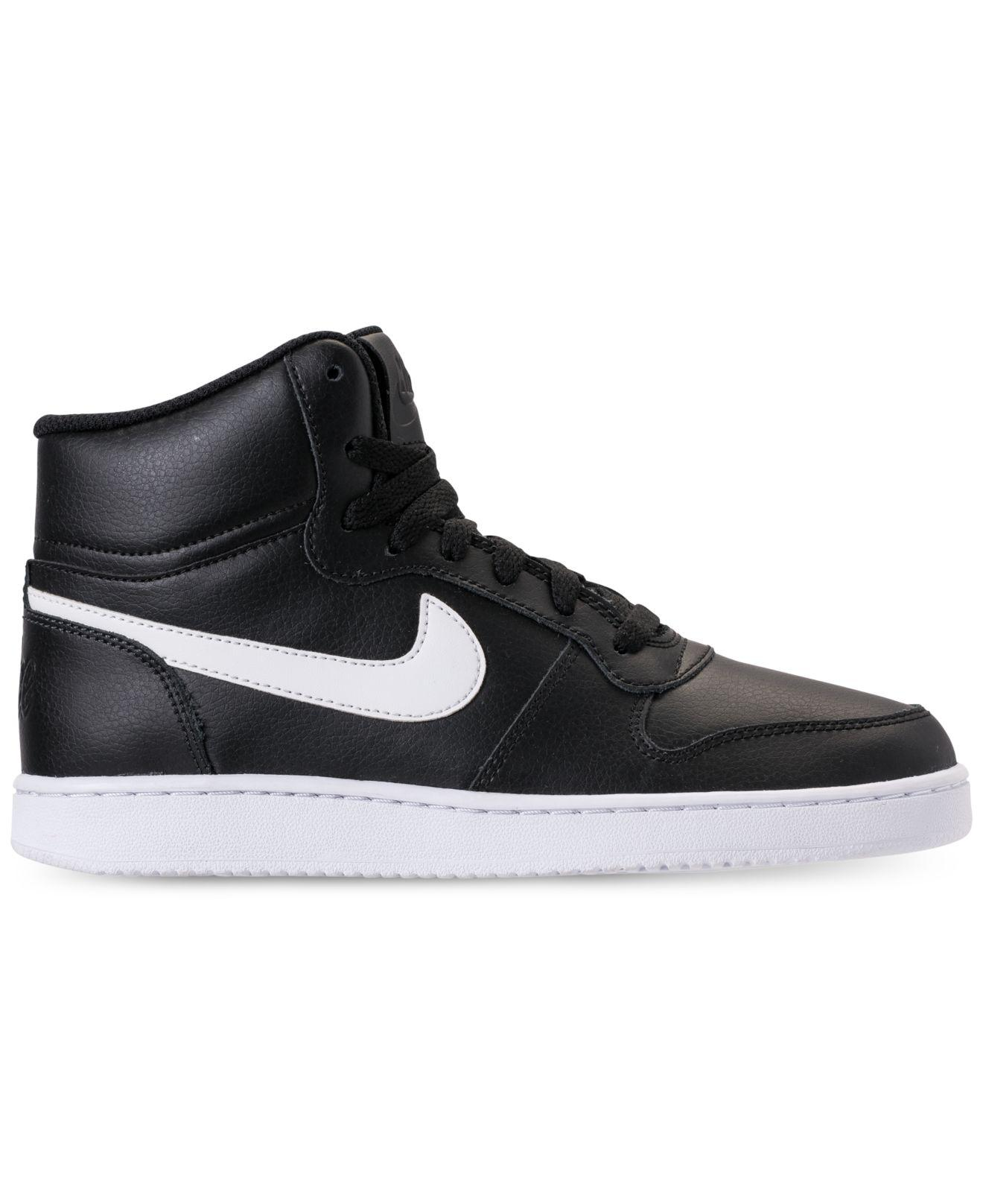93c07688c7f363 Lyst - Nike Ebernon Mid Casual Sneakers From Finish Line in Black
