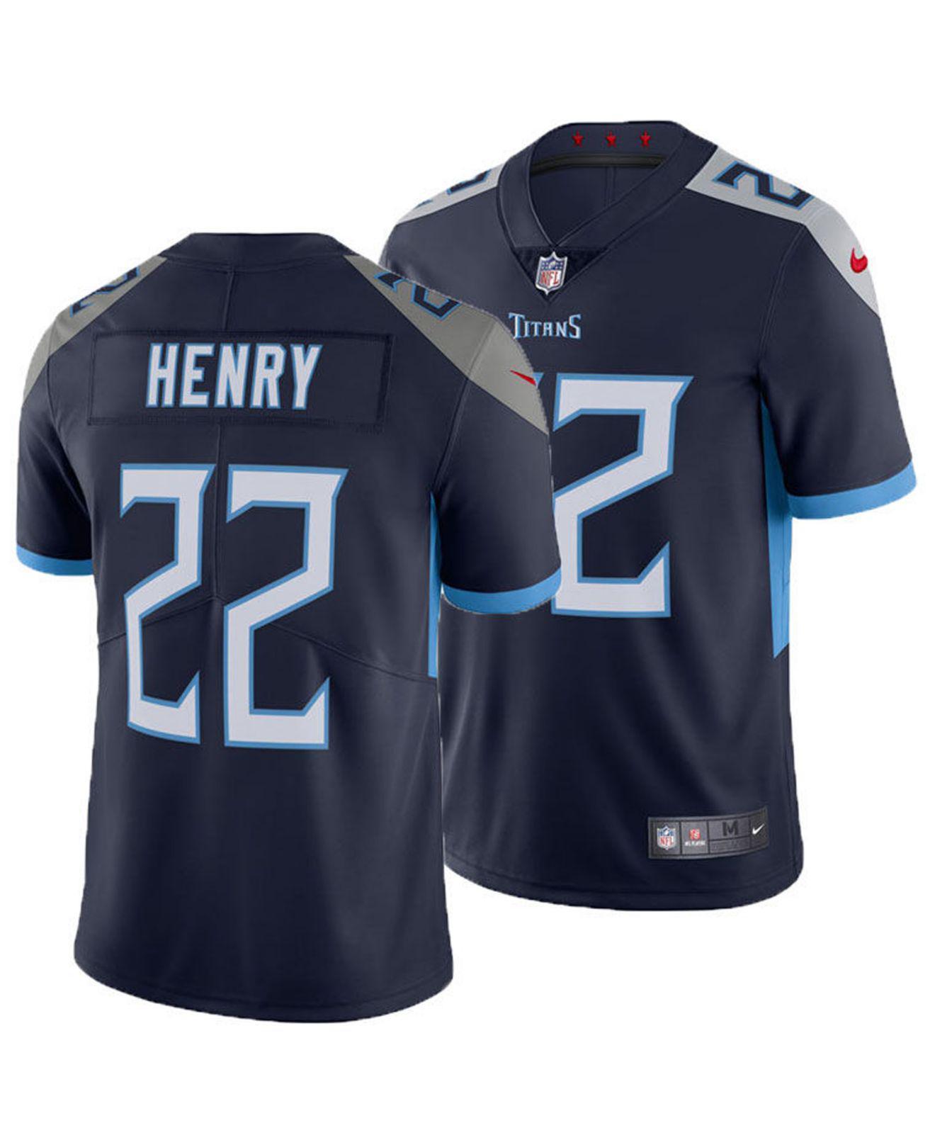 a1846756d Nike. Men s Blue Derrick Henry Tennessee Titans Vapor Untouchable Limited  Jersey