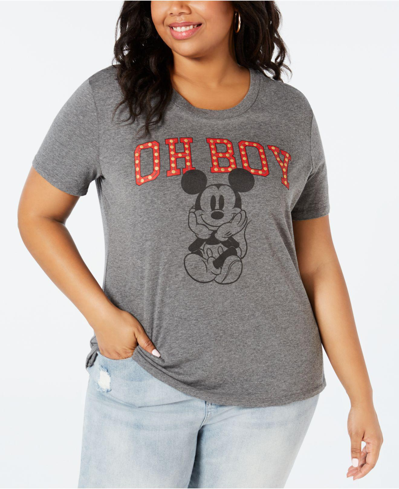 a7cdd536d06888 Disney By Love Tribe Trendy Plus Size Oh Boy Mickey Mouse T-shirt in ...