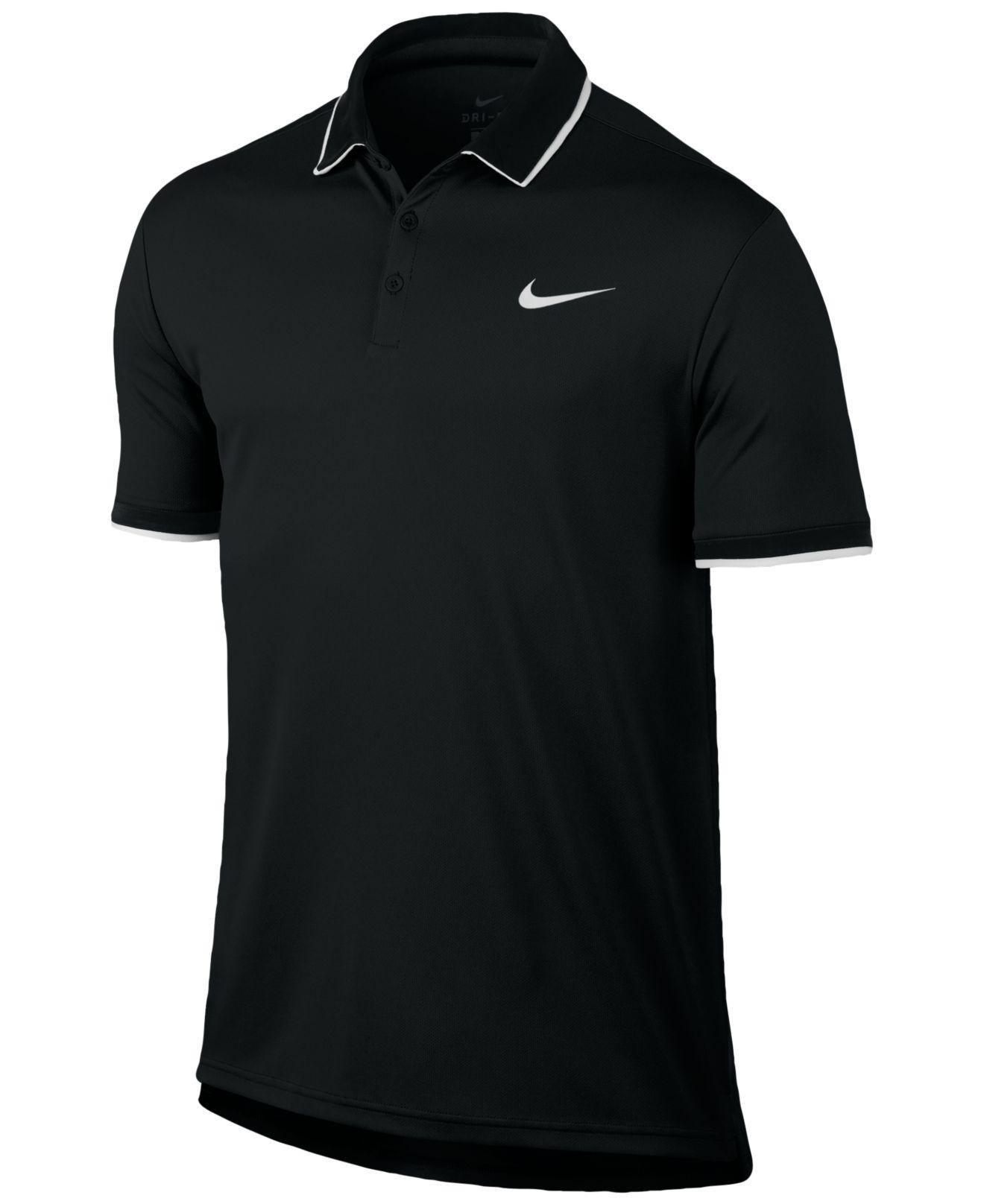 c20879d1 Lyst - Nike Court Dry Tennis Polo in Black for Men