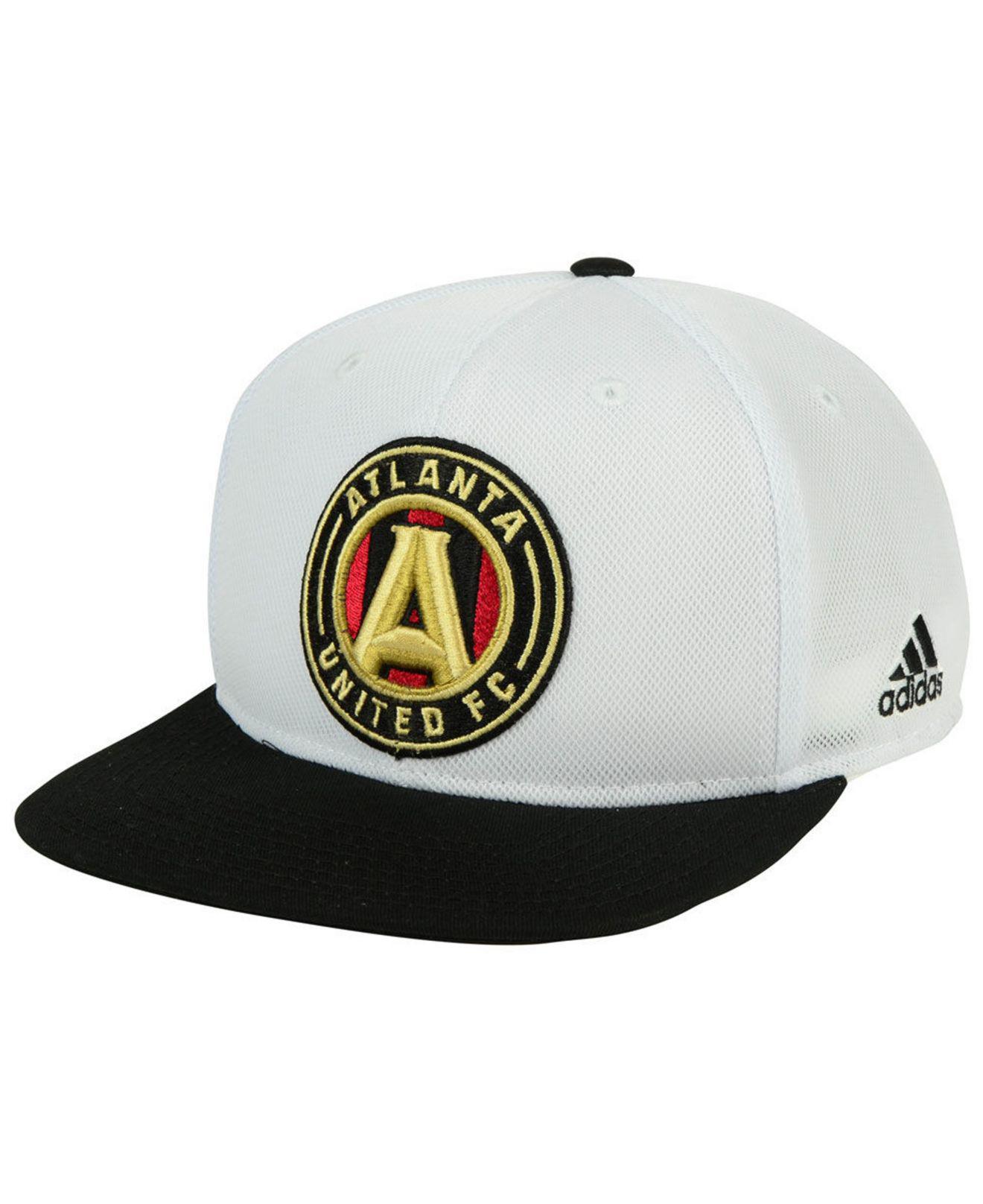 low priced 65896 43b35 adidas Atlanta United Fc 2tone Snapback Cap in Black for Men - Lyst