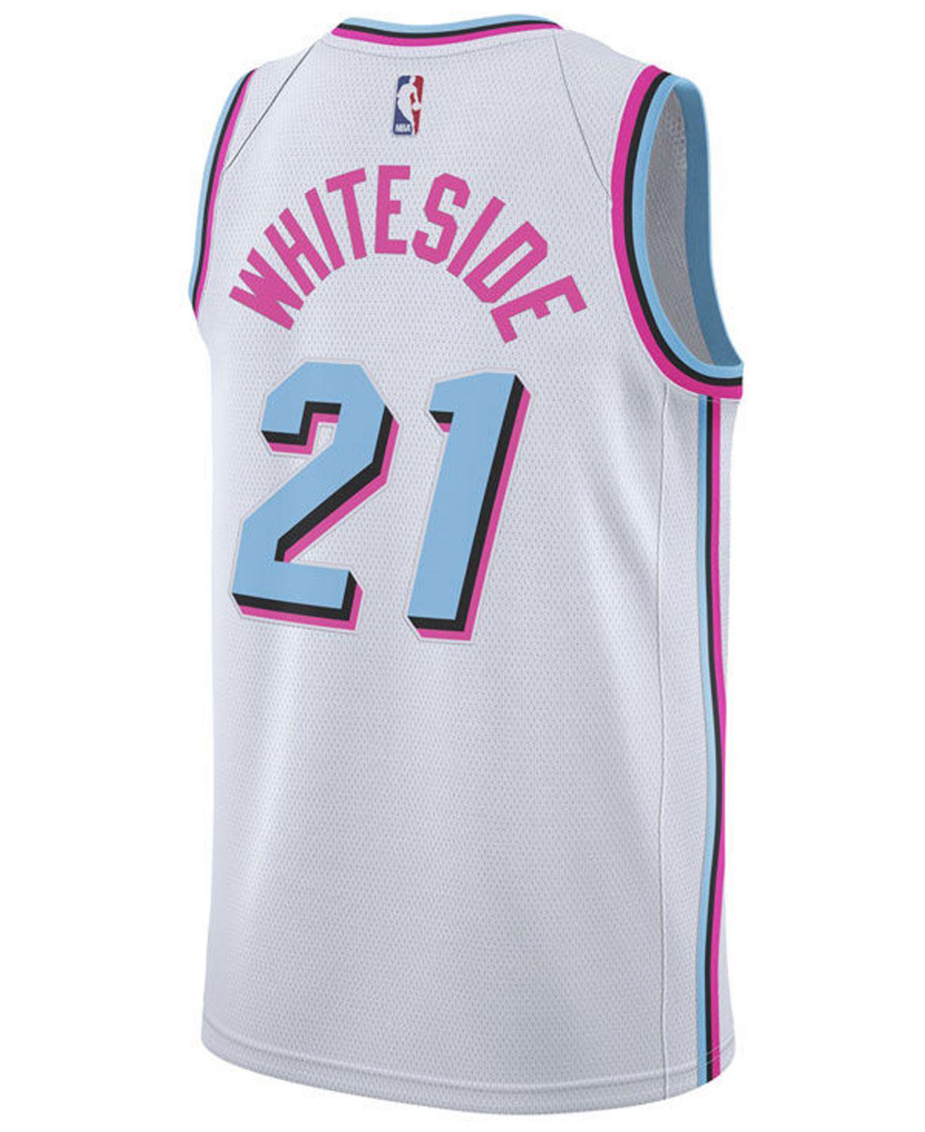 274749fc Lyst - adidas Hassan Whiteside Miami Heat City Swingman Jersey in ...