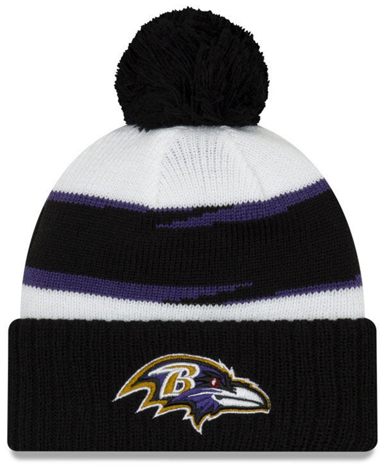 e6bf38b6b200e KTZ - Black Baltimore Ravens Thanksgiving Pom Knit Hat - Lyst. View  fullscreen