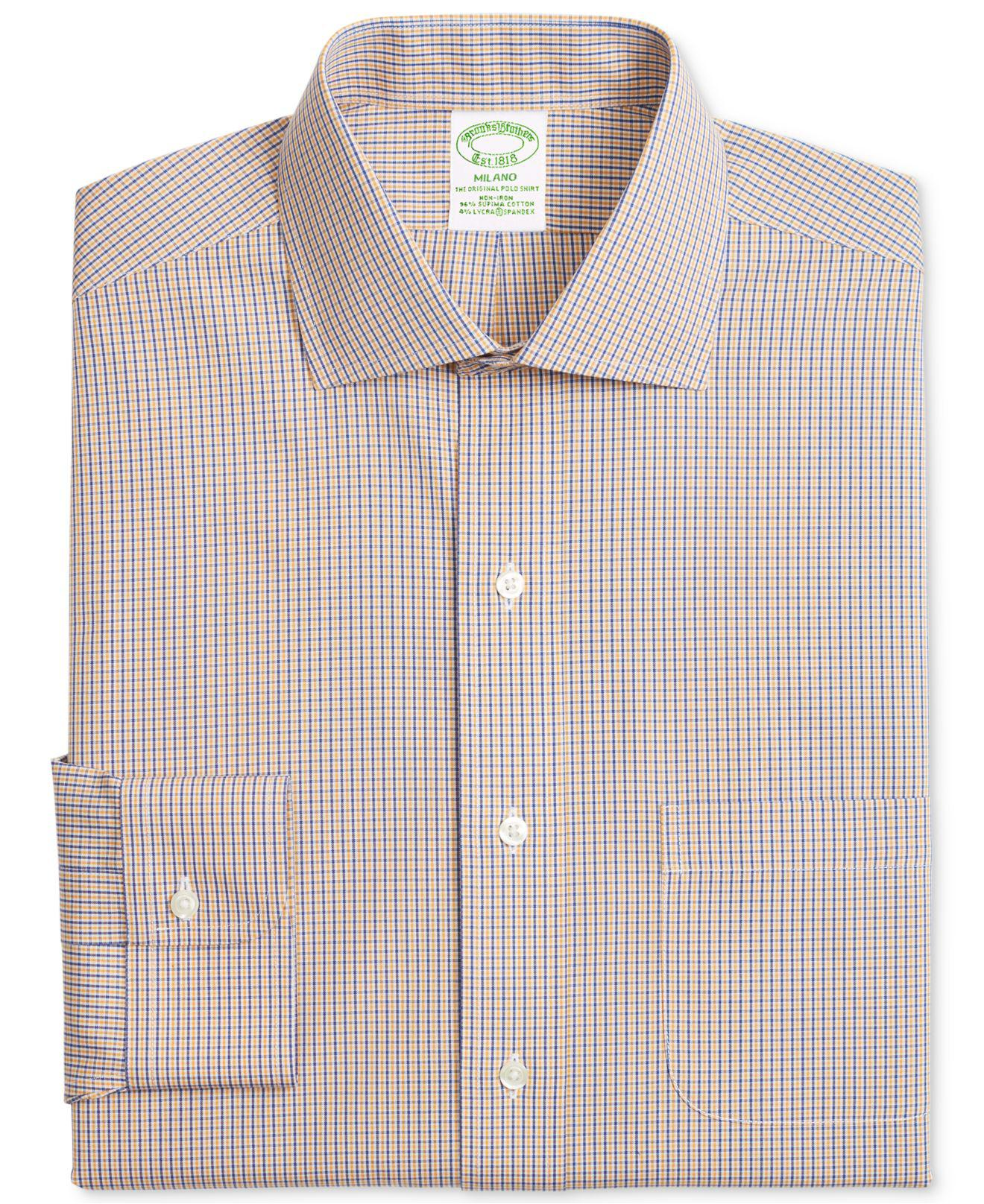 3d7db4217e Lyst - Brooks Brothers Milano Extra-slim Fit Non-iron Stretch ...