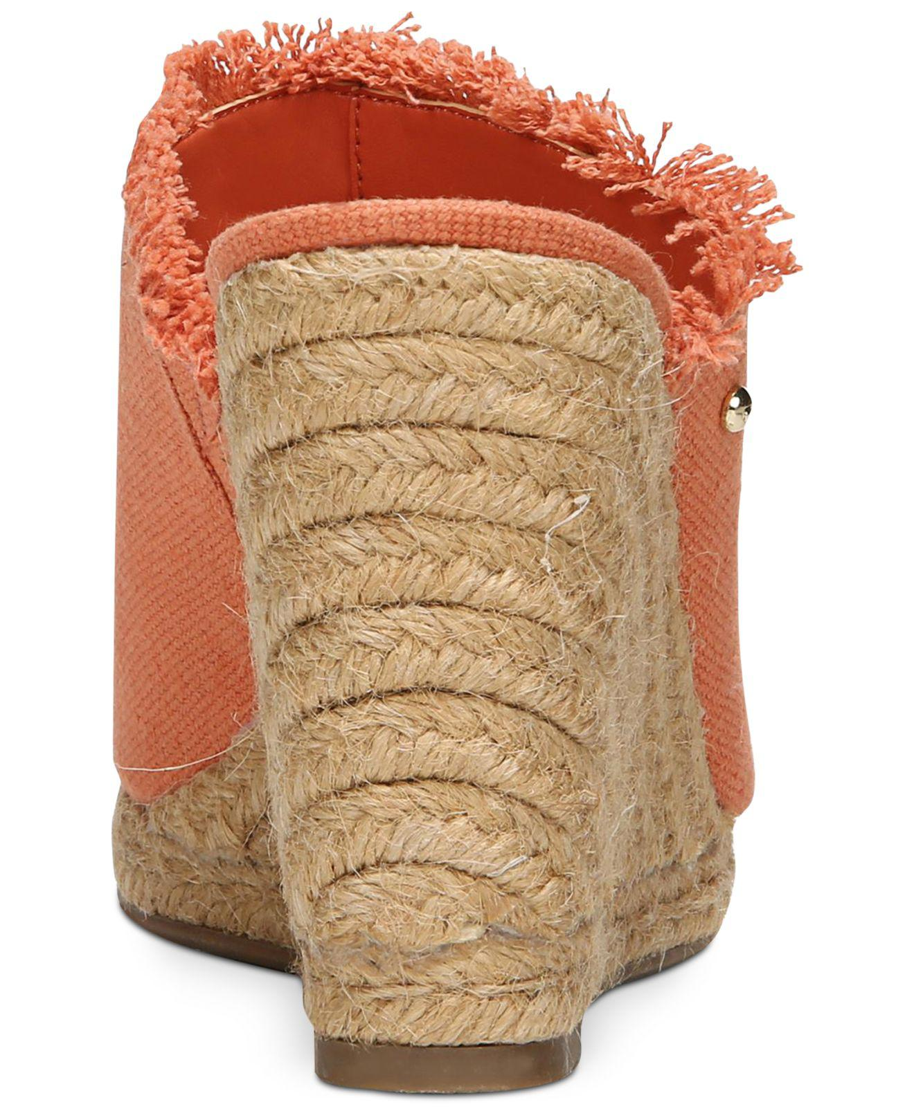 ce0129401509 Lyst - Circus by Sam Edelman Baker Wedges in Orange