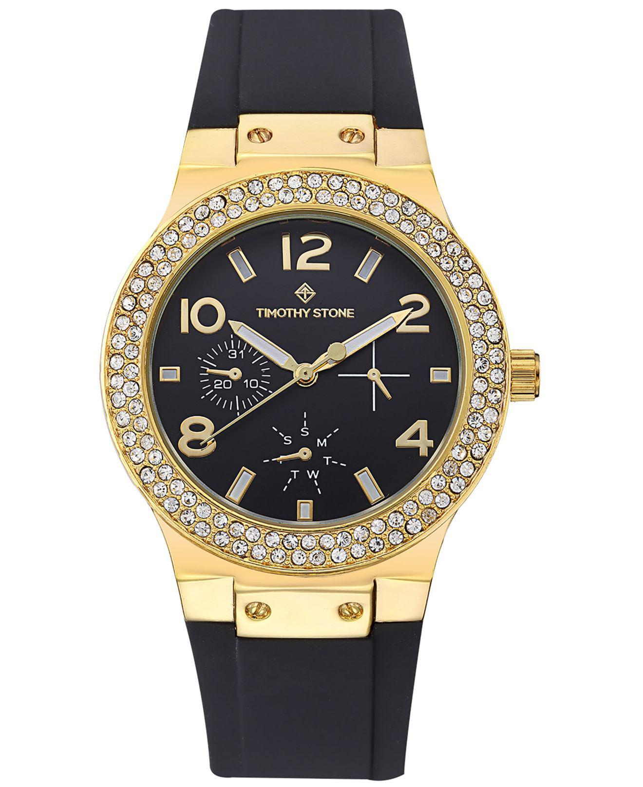 296cff87b849 ... Sporty Chic Crystal Accented Silicone Strap Watch - Lyst. View  fullscreen