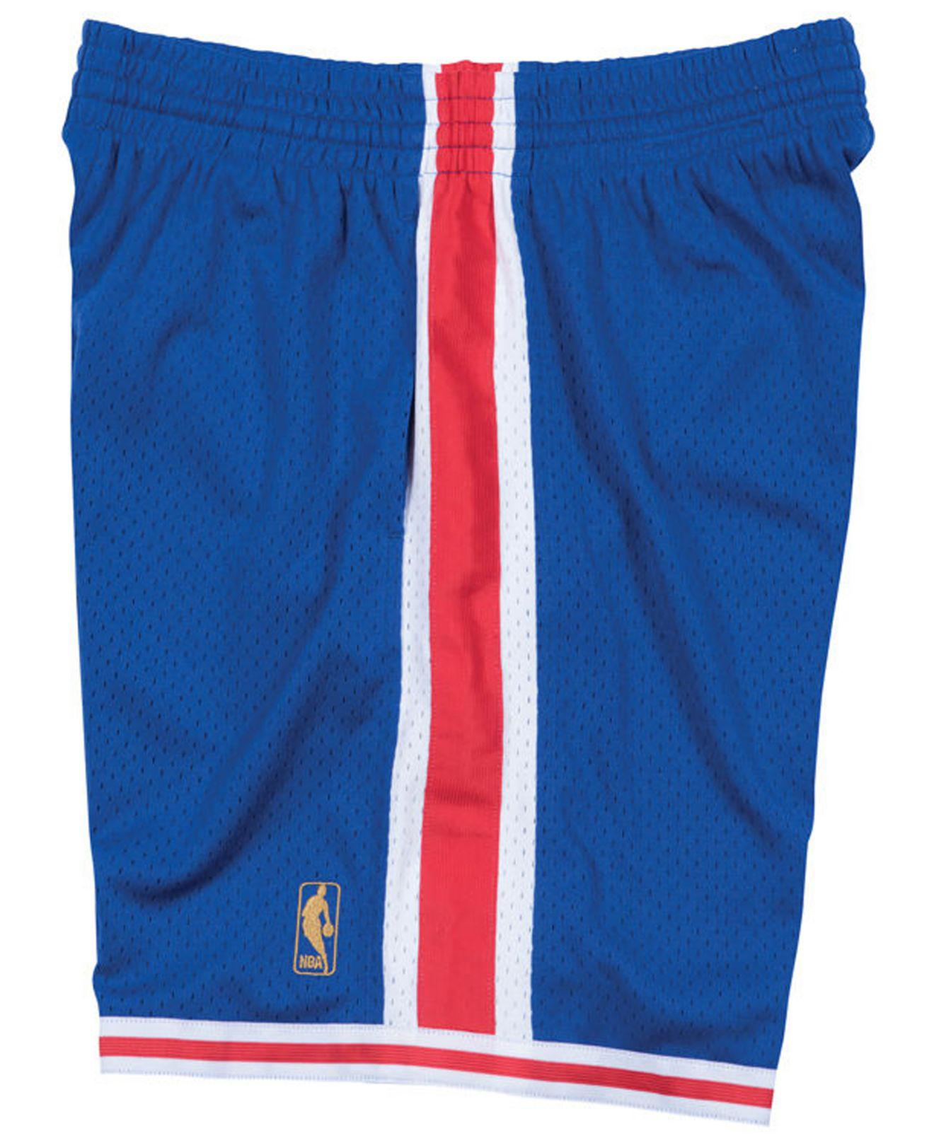 ffb26b1539d ... best price lyst mitchell ness philadelphia 76ers swingman shorts in blue  for men f7b6f e8a8f