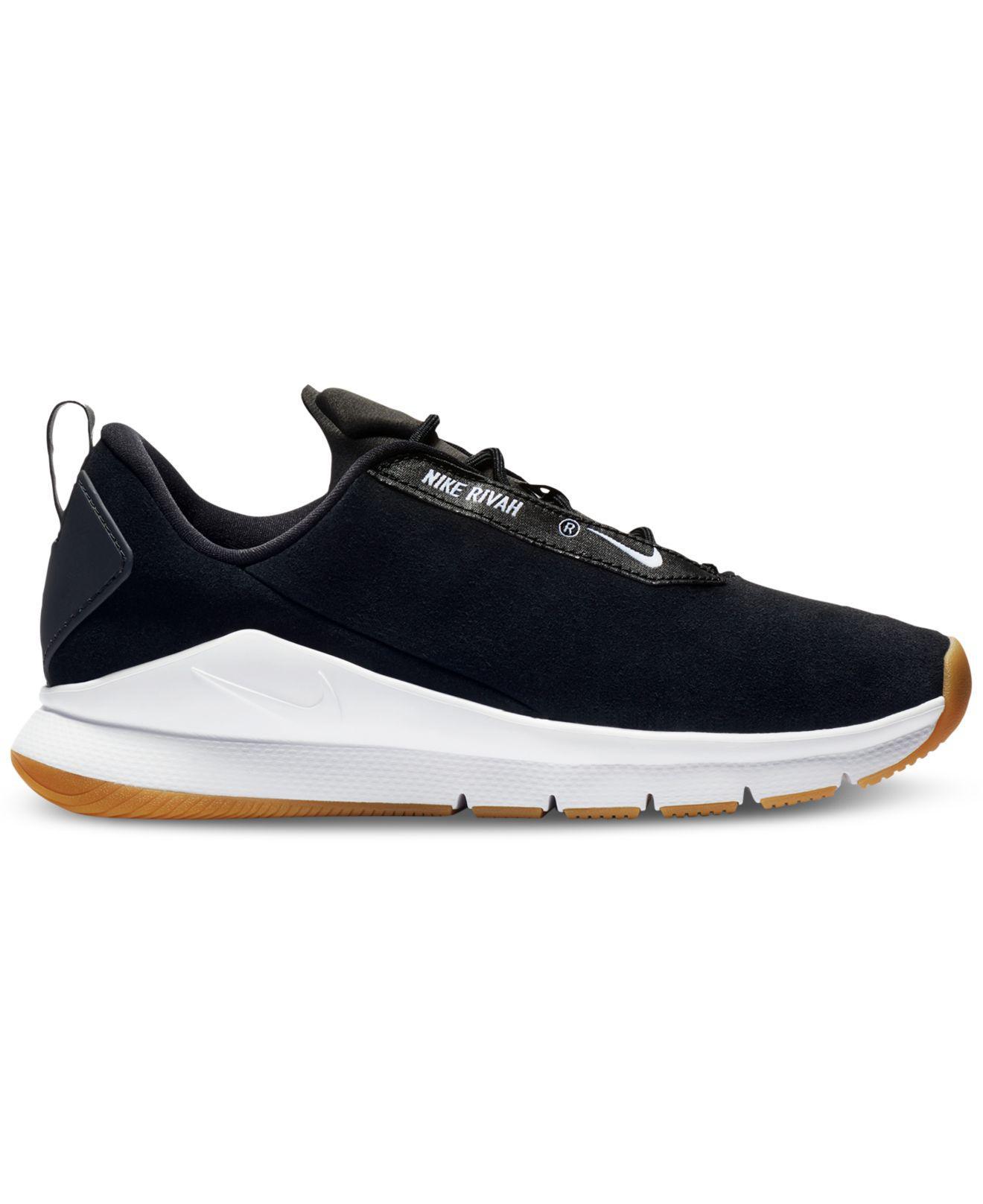 Nike. Men's Black Rivah Premium Casual Sneakers From Finish Line
