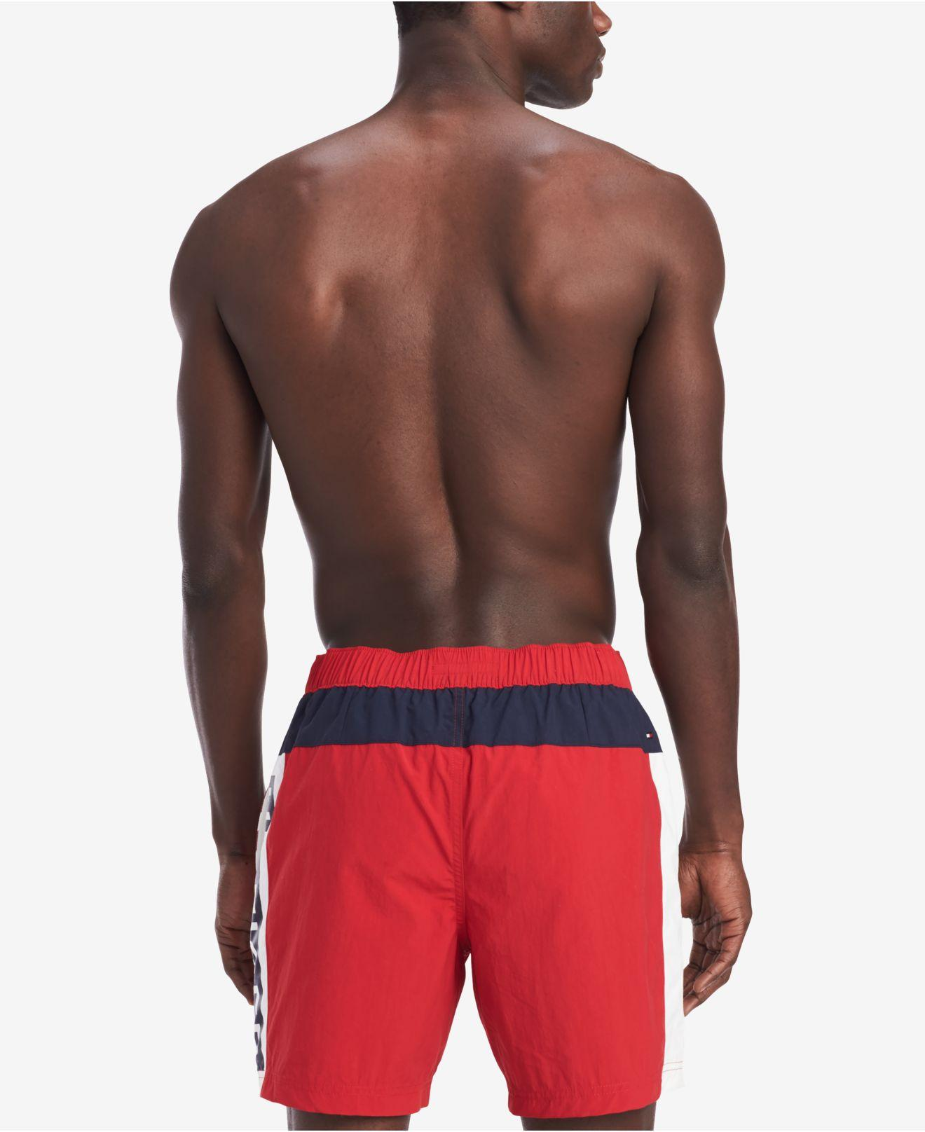 8da0852a80 Lyst - Tommy Hilfiger Logo Graphic Board Shorts in Red for Men