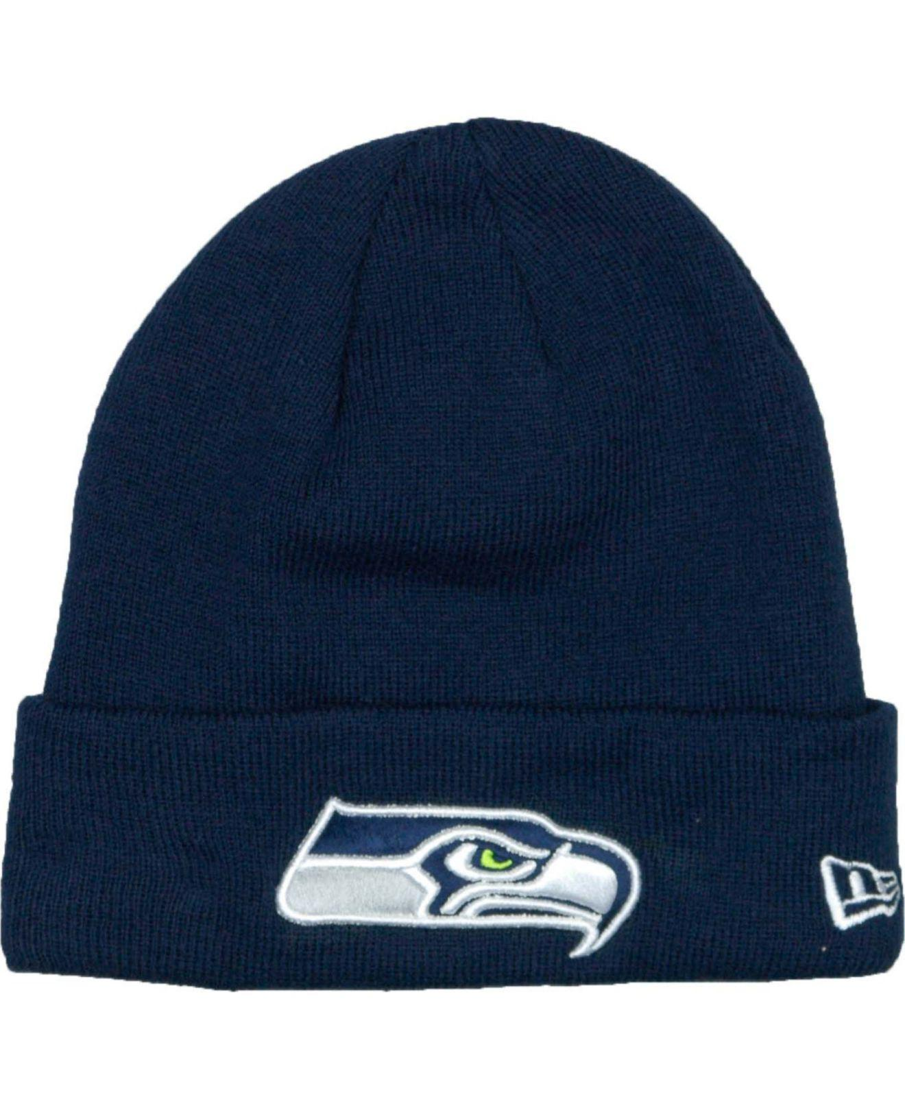 1ce6c0f49c7c3 Lyst - KTZ Seattle Seahawks Basic Cuff Knit Hat in Blue for Men