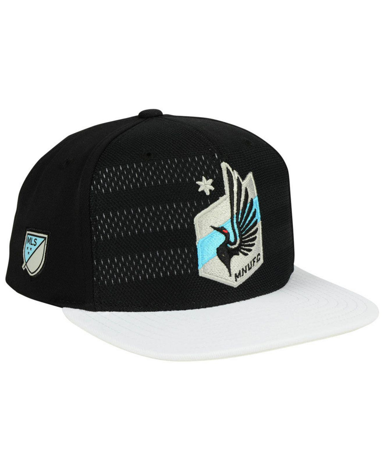 the latest 82735 afc2d Lyst - adidas Minnesota United Fc Authentic Snapback Cap in Black ...