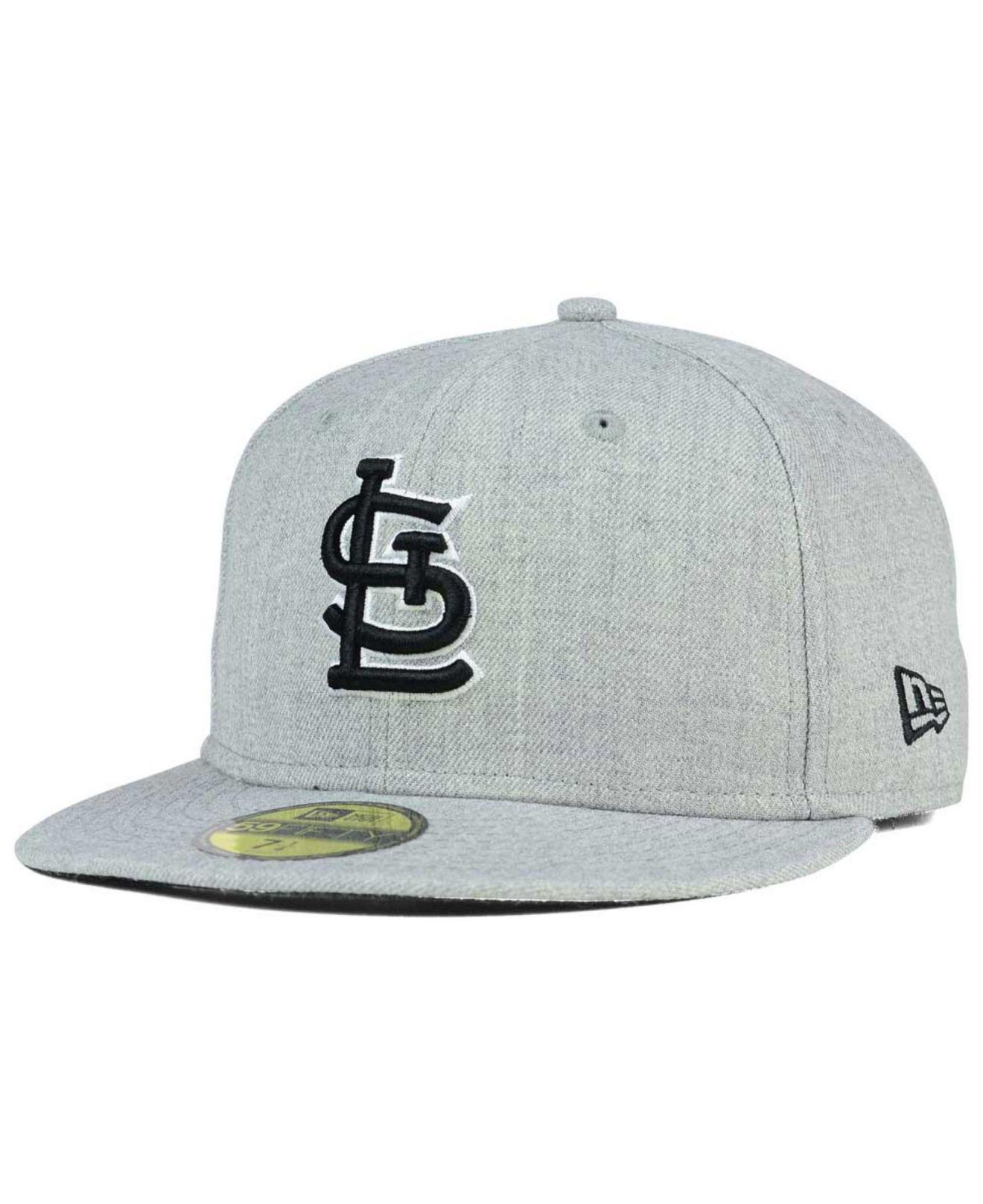 official photos 34840 8f039 KTZ - Gray St. Louis Cardinals Heather Black White 59fifty Cap for Men -  Lyst. View fullscreen