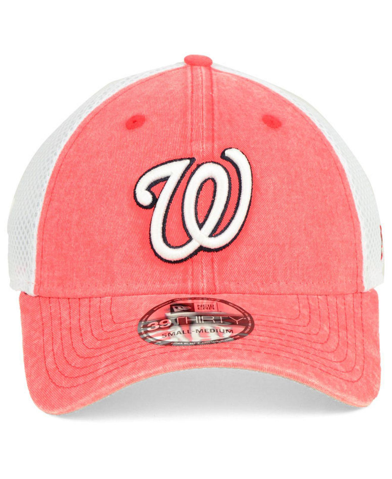 on sale bc74a 4147a Lyst - KTZ Washington Nationals Hooge Neo 39thirty Cap in Red for Men