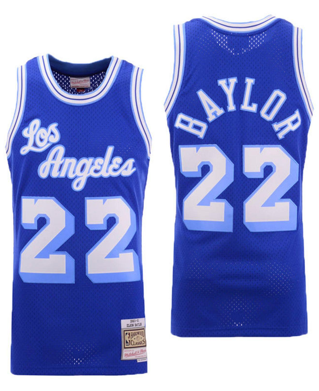 90ab89652fbf Mitchell   Ness. Men s Blue Elgin Baylor Los Angeles Lakers Hardwood Classic  Swingman Jersey