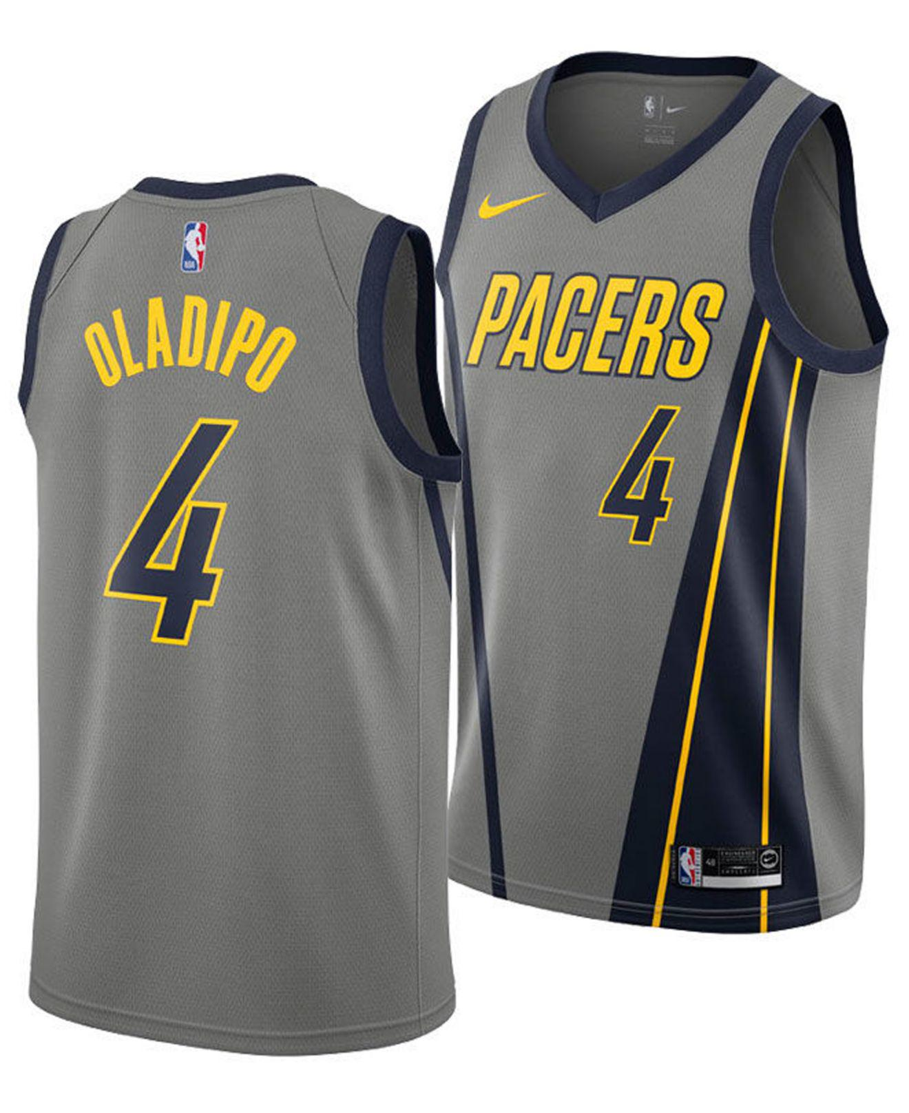 69ca27ef5 Nike Victor Oladipo Indiana Pacers City Swingman Jersey 2018 in Gray ...