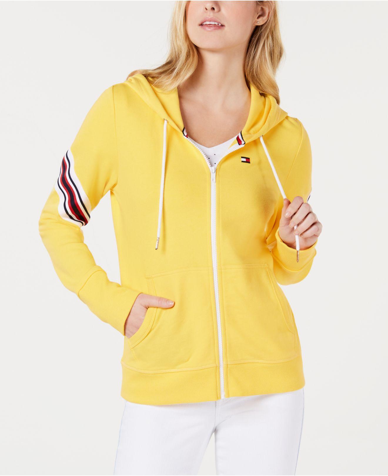 fd75df822 Lyst - Tommy Hilfiger Varsity Logo Hoodie in Yellow