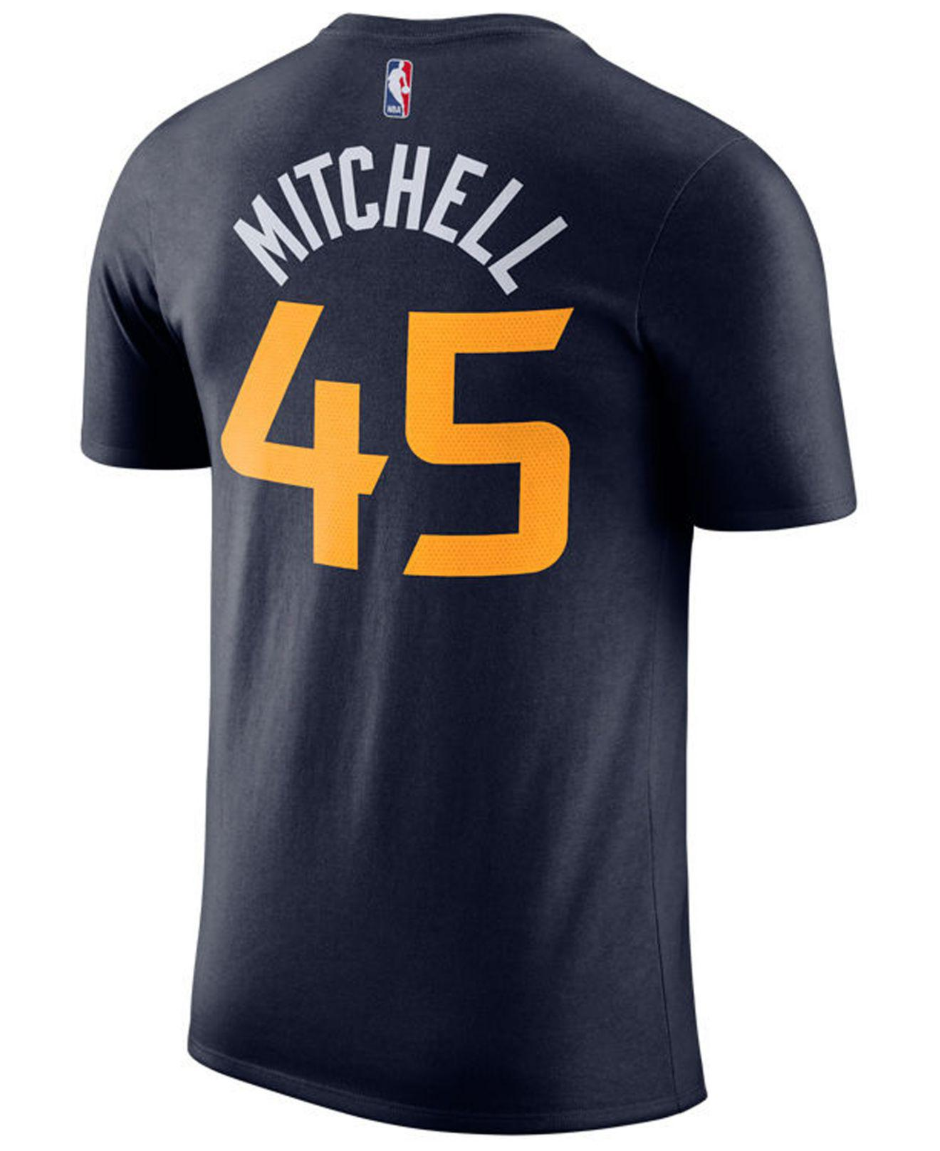 2b99aa326 Nike Donovan Mitchell Utah Jazz Icon Player T-shirt in Blue for Men ...