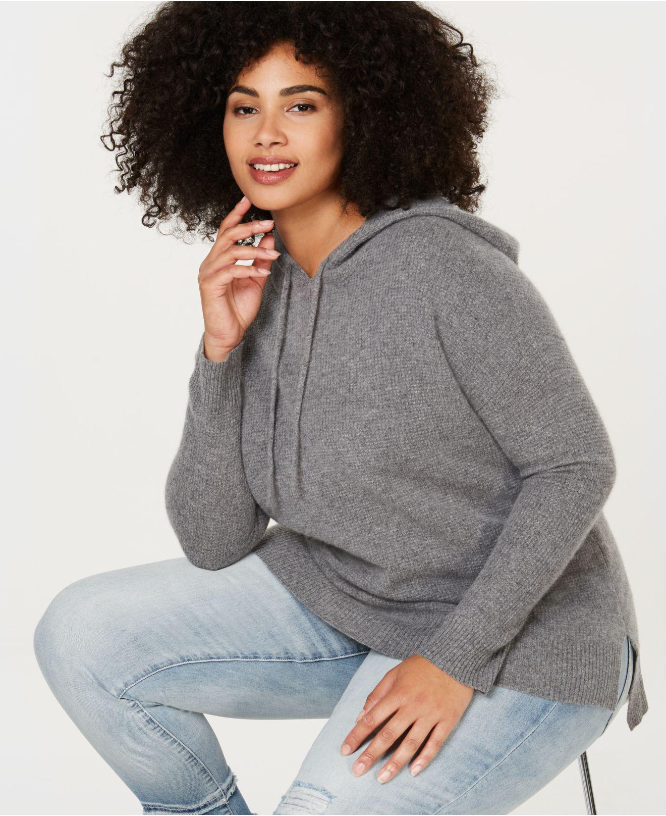 92694a76683 Lyst - Charter Club Plus Size Pure Cashmere Thermal Hoodie, Created ...