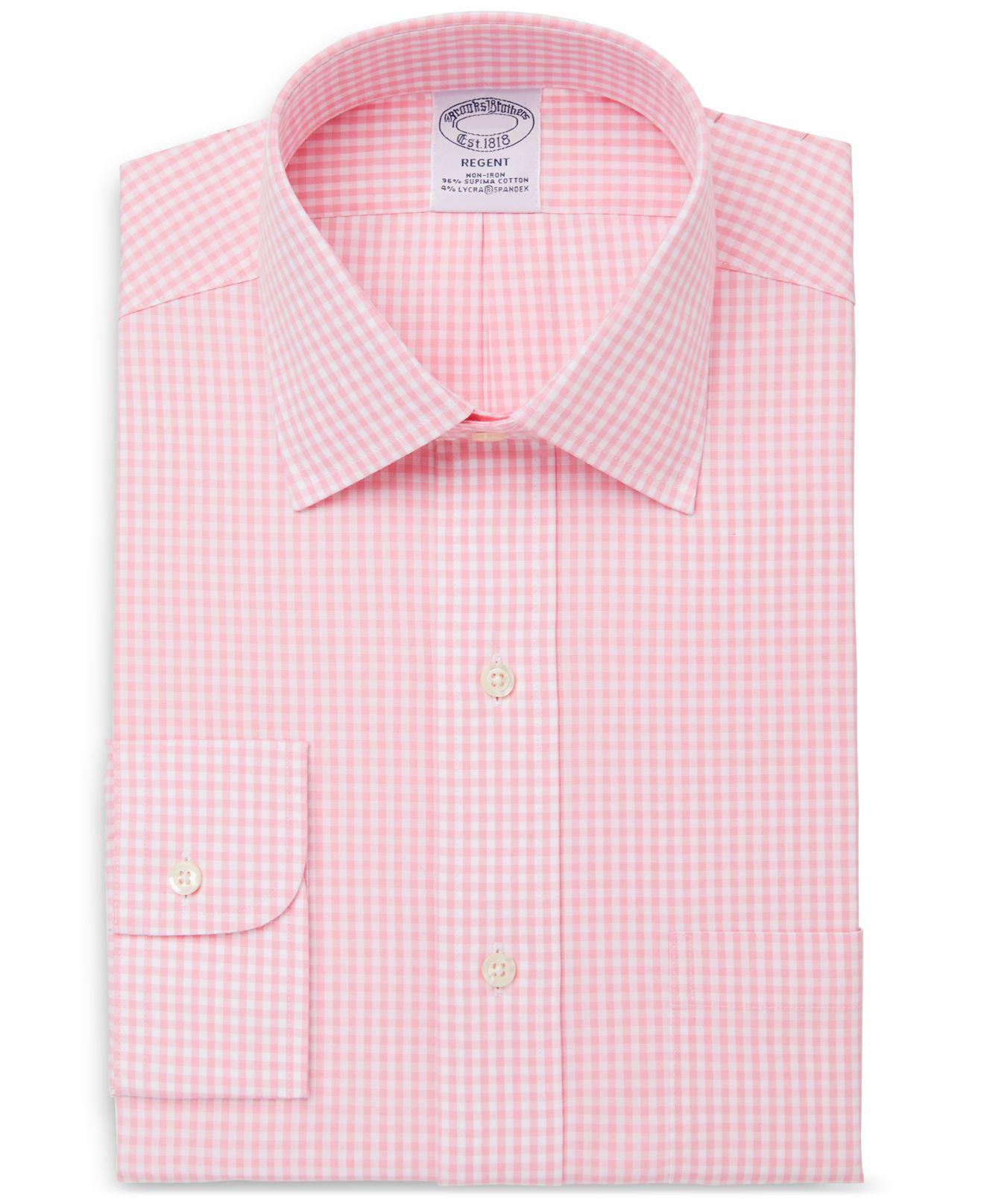 Lyst Brooks Brothers Slim Fit Non Iron Stretch Gingham Dress Shirt