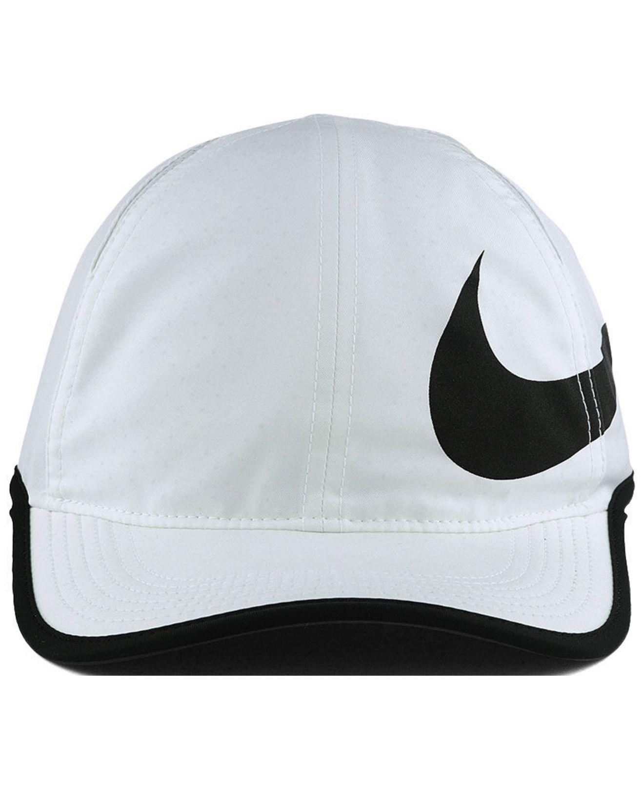 finest selection 9bf67 004d7 Nike Featherlight Swoosh Cap in White for Men - Lyst