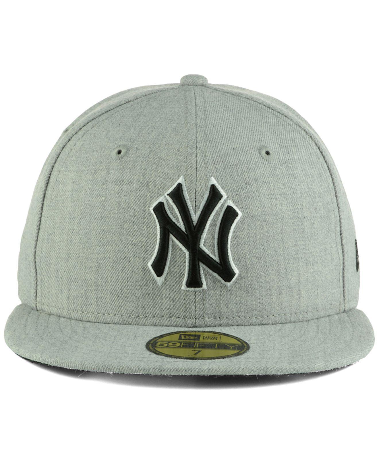 new styles d4ca4 54c0e Lyst - KTZ New York Yankees Heather Black White 59fifty Cap in Gray for Men