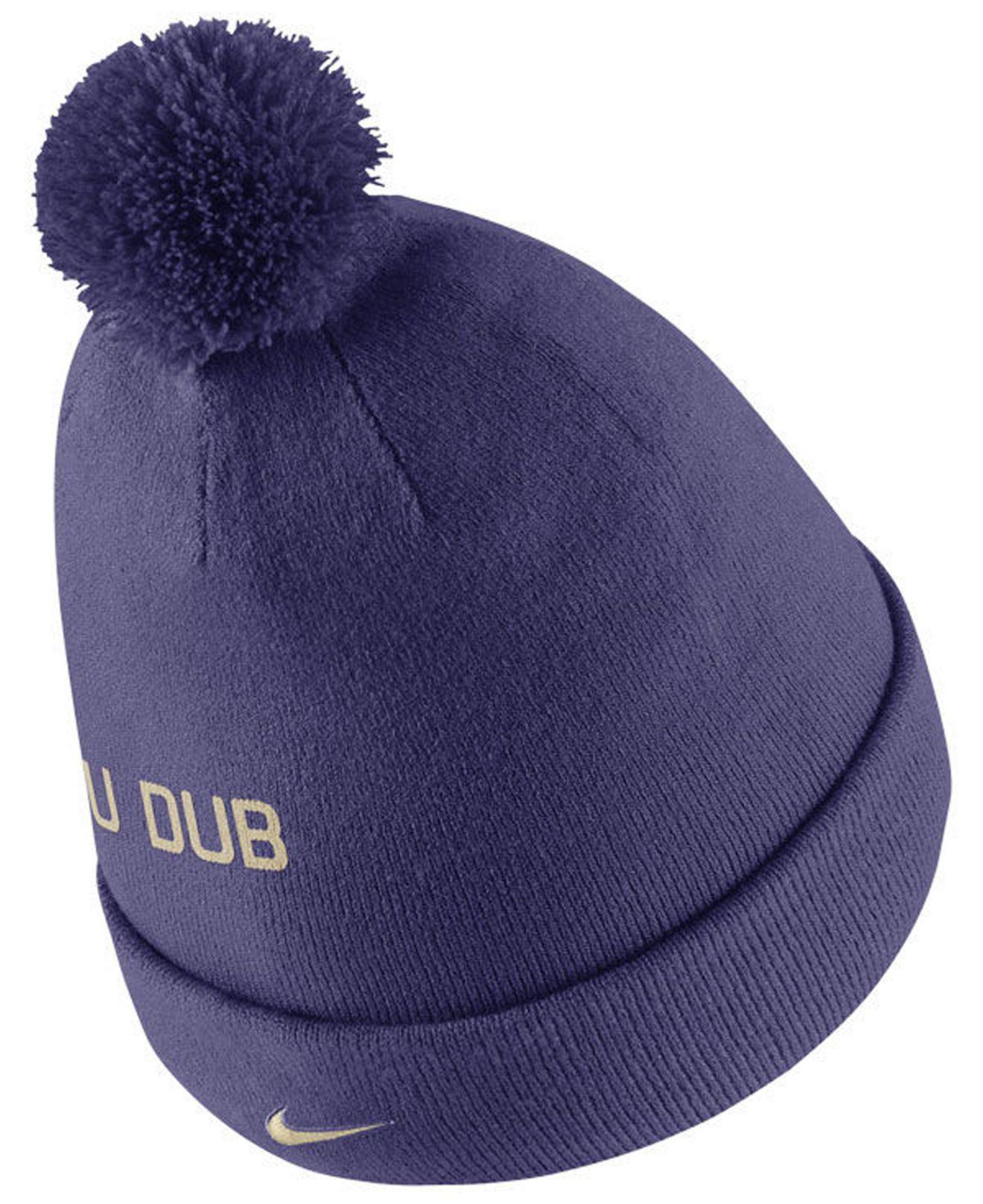 be64aa0ed01 Nike - Blue Washington Huskies Striped Beanie Knit Hat for Men - Lyst. View  fullscreen