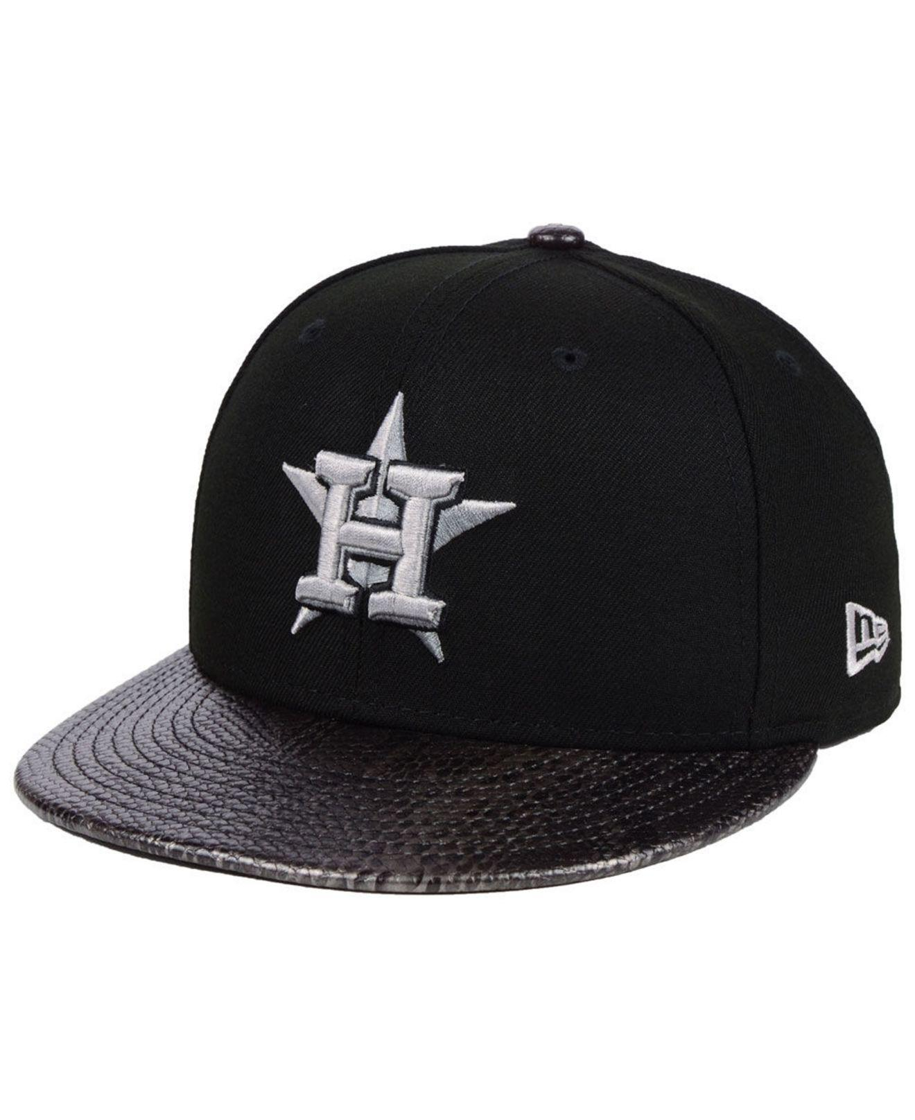 separation shoes 61e18 ccb69 ... italy ktz. mens black houston astros snakeskin sleek 59fifty fitted cap  cabd9 37aee coupon code for texas rangers ...