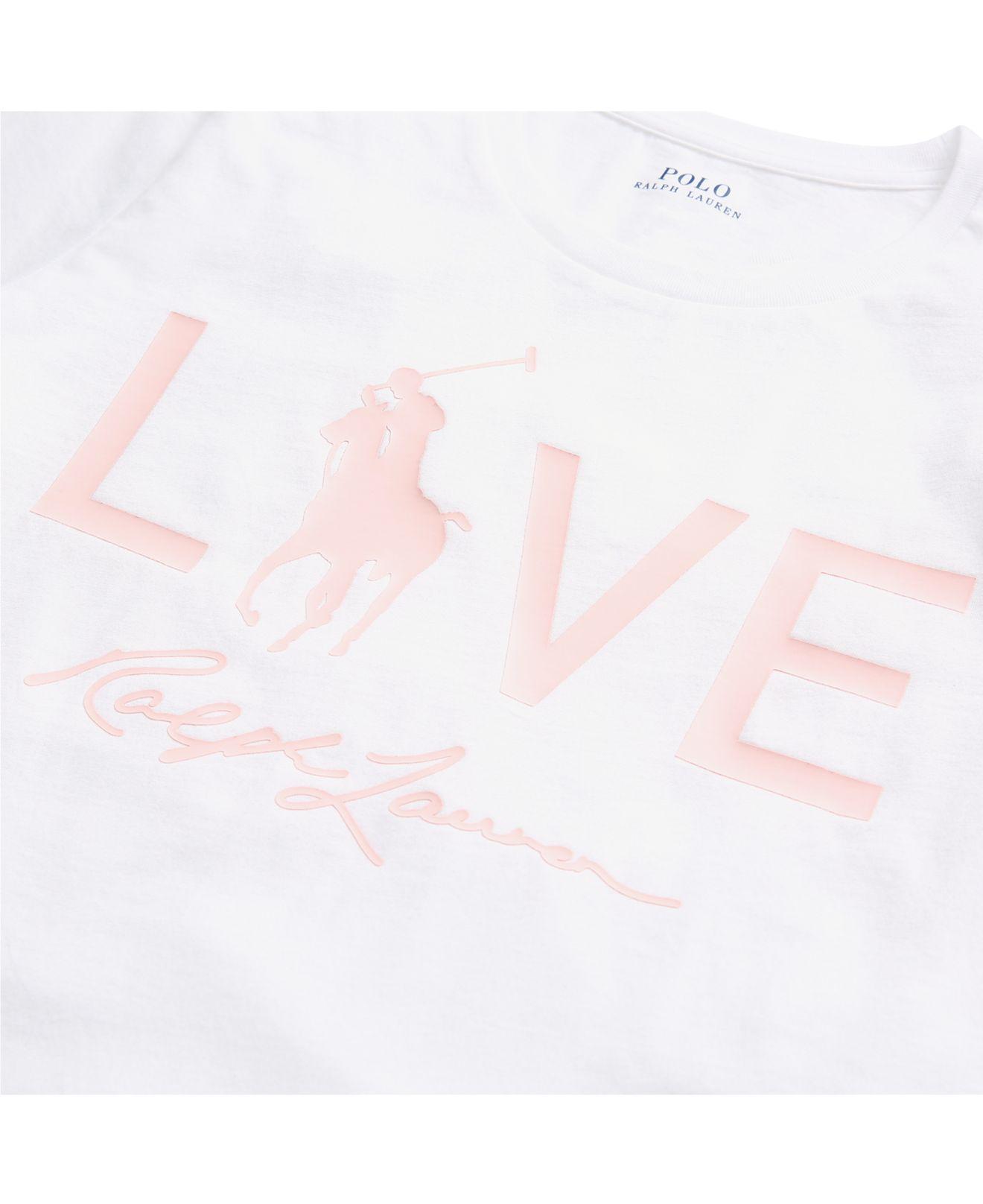 a1ba9b1c2 Polo Ralph Lauren - White Pink Pony Graphic Cotton T-shirt - Lyst. View  fullscreen