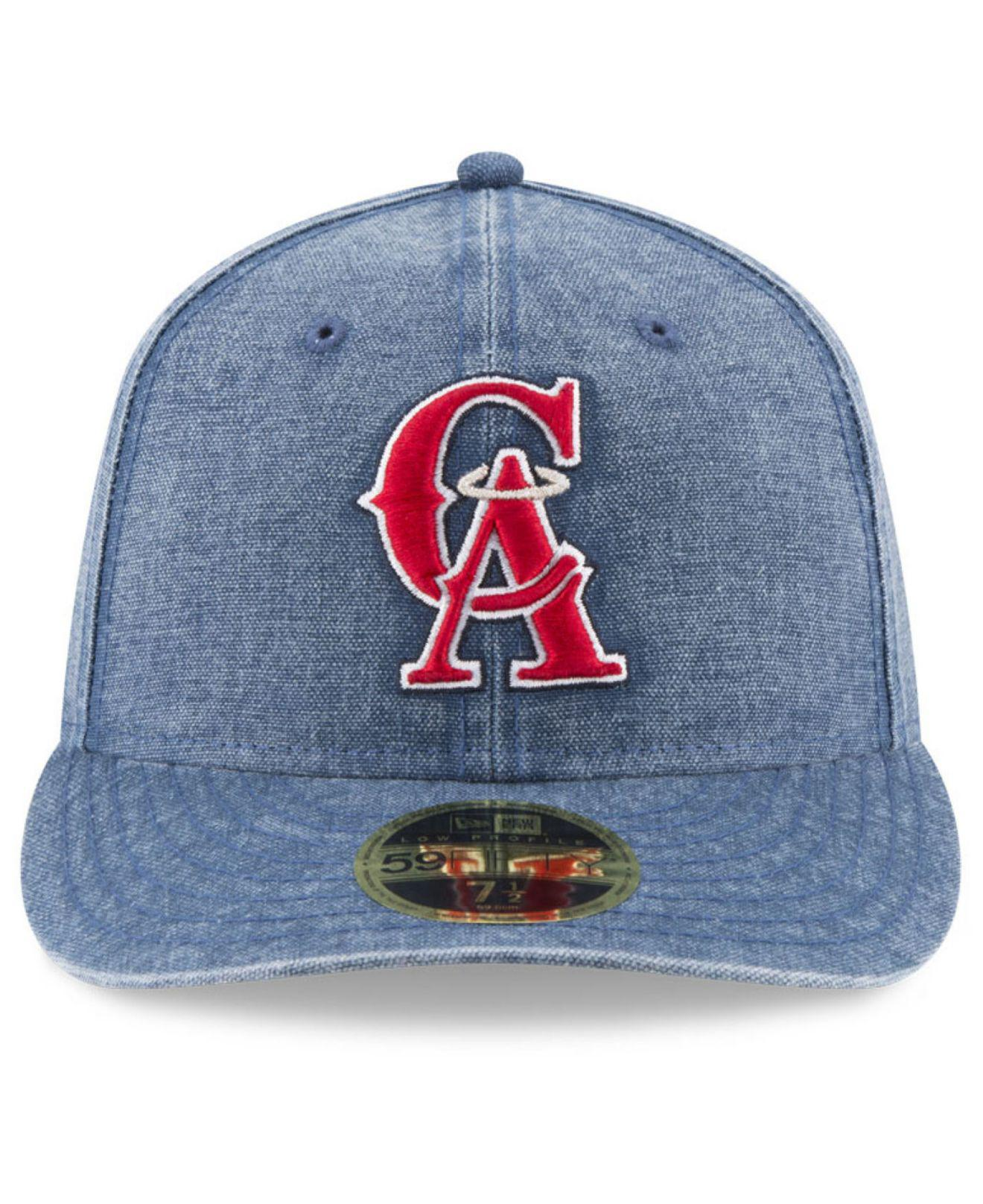 quality design c8c45 f2fe9 ... coupon lyst ktz los angeles angels 59fifty bro cap in blue for men  84c04 eff68