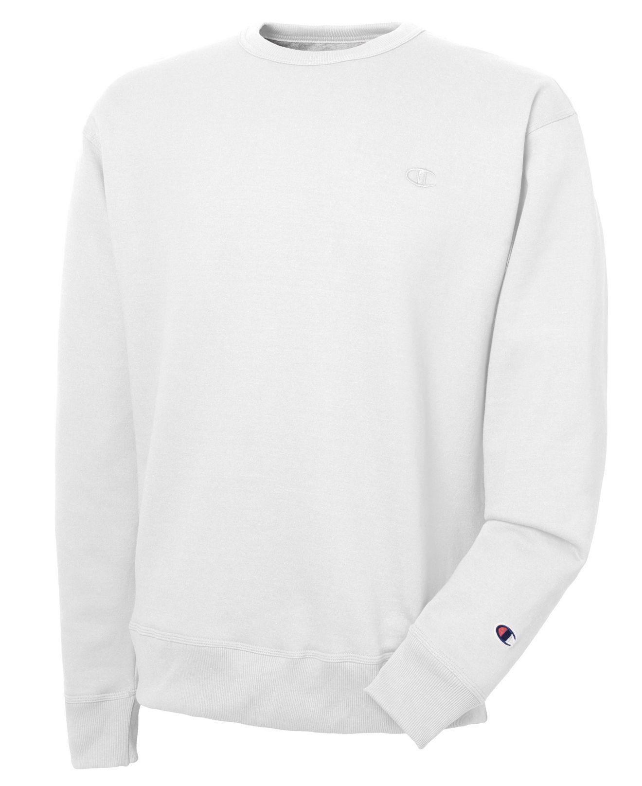 In Champion For Men White Powerblend Sweatshirt Fleece Lyst Men's gpdXZxnv