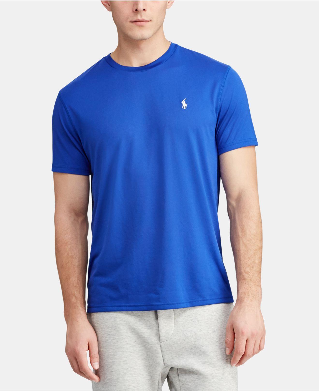 c53a569e444 Lyst - Polo Ralph Lauren Performance Jersey T-shirt in Blue for Men ...