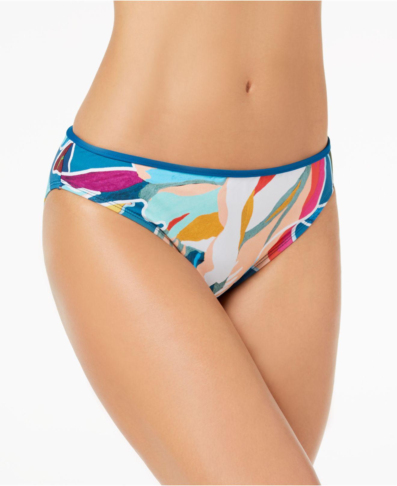 e900e8b6845 La Blanca Go With The Flo-ral Printed Hipster Bikini Bottoms in Blue ...