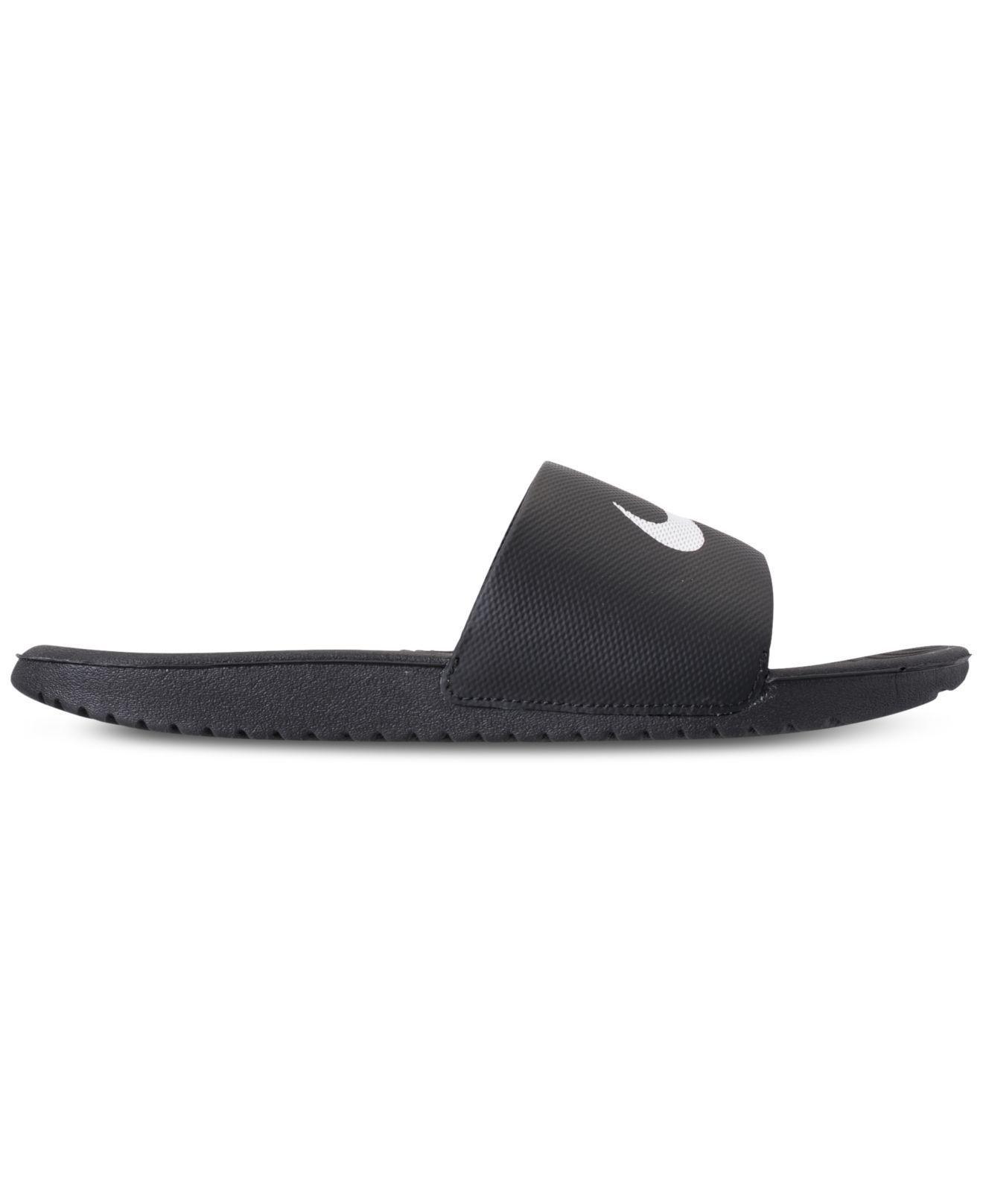 ec2addb02693 Lyst - Nike Kawa Slide Sandals From Finish Line in Black for Men