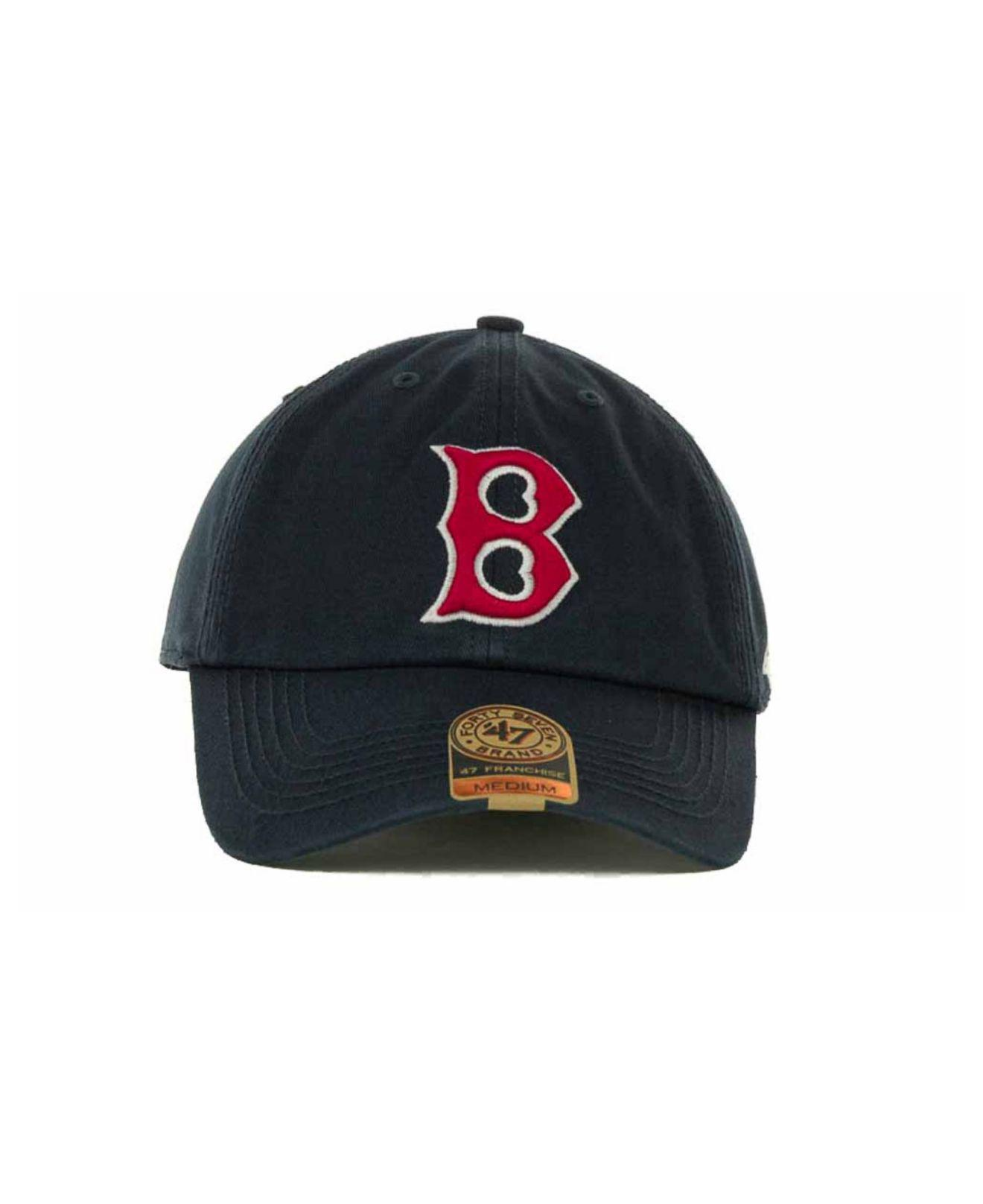 online store 4ece2 9248c Lyst - 47 Brand Boston Red Sox Franchise Cap in Blue for Men
