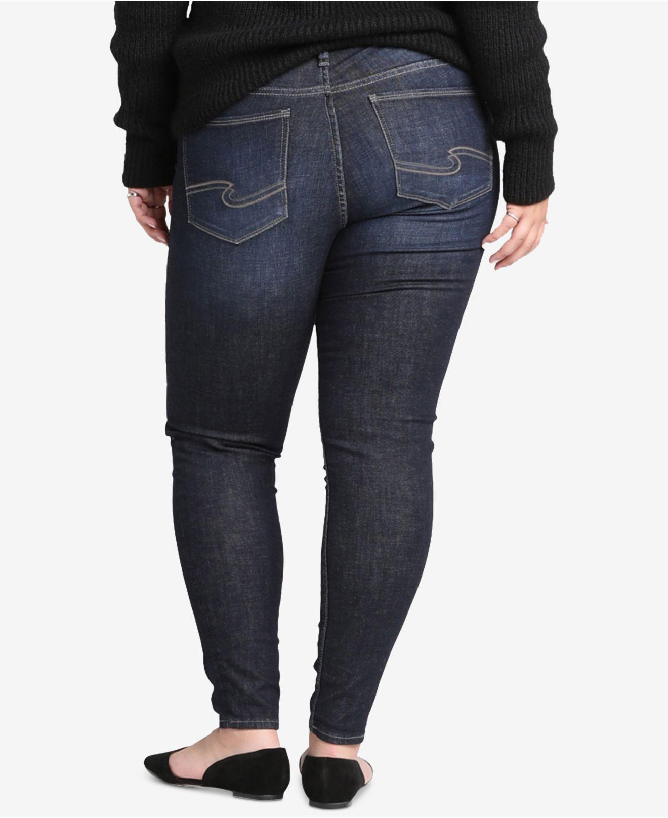 77d9580c15f Lyst - Silver Jeans Co. Plus Size Elyse Curvy-fit Skinny Jeans in Blue