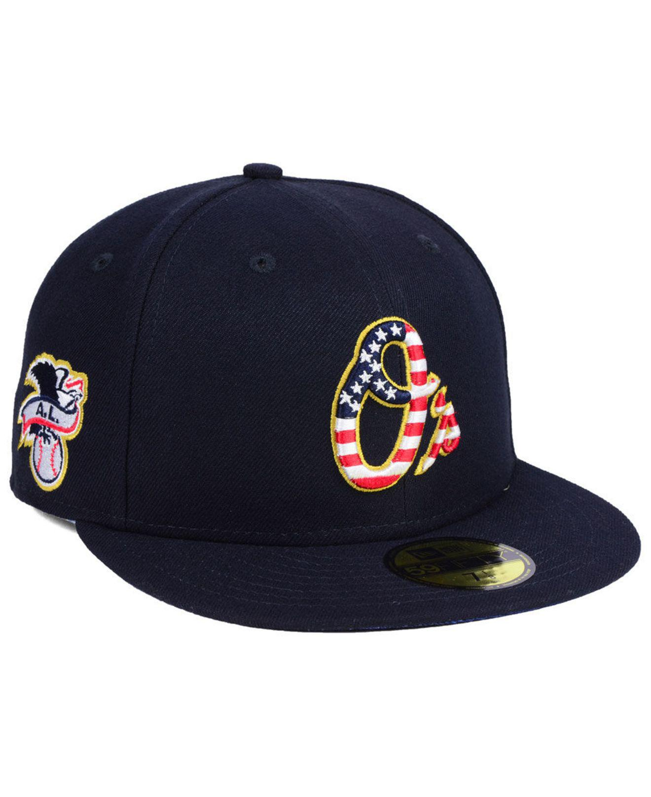Lyst - KTZ Baltimore Orioles Stars And Stripes 59fifty Fitted Cap in ... 6a707cb8141e