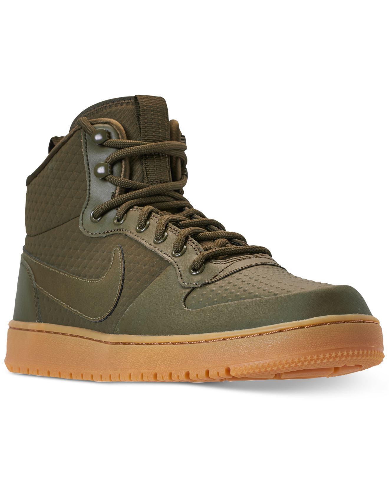promo code 39731 45a63 Nike. Men s Green Ebernon Mid Winter Casual Sneakers ...