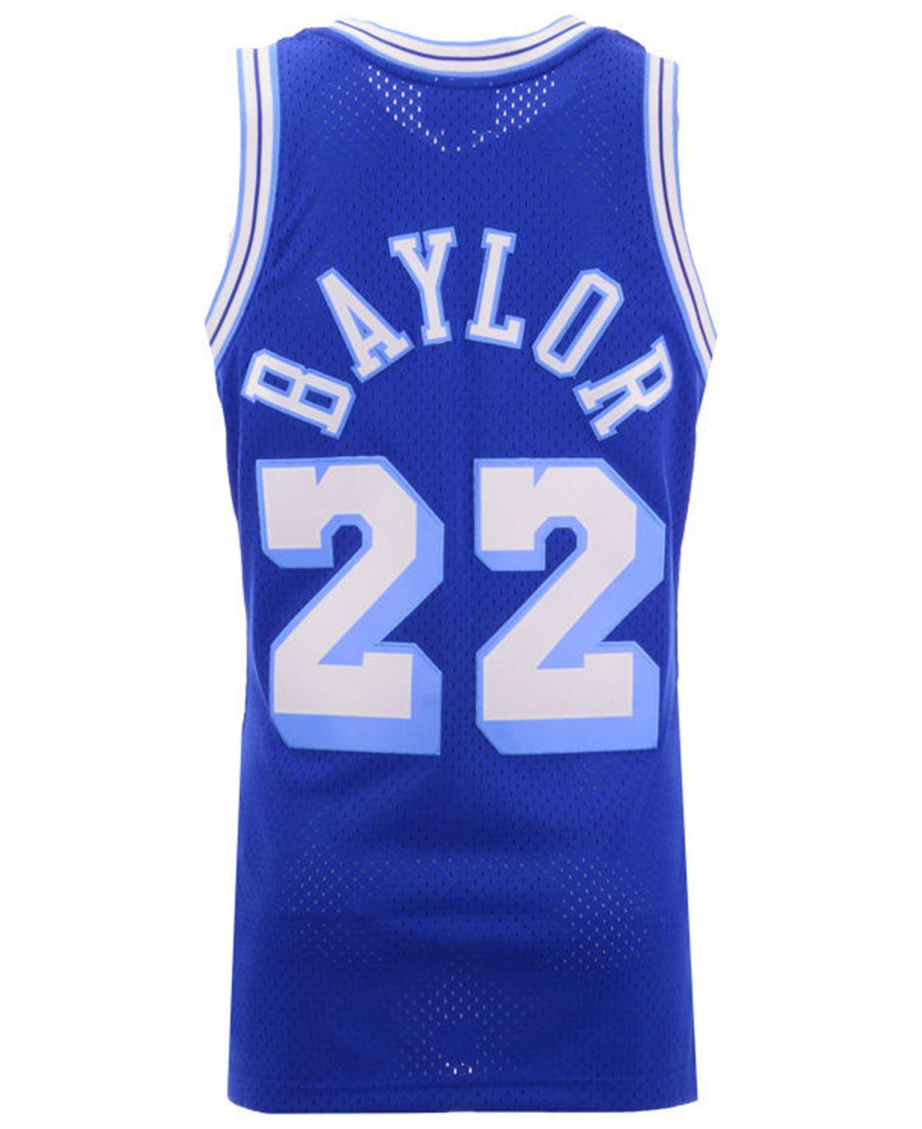 198fa91a439a Lyst - Mitchell   Ness Elgin Baylor Los Angeles Lakers Hardwood Classic Swingman  Jersey in Blue for Men