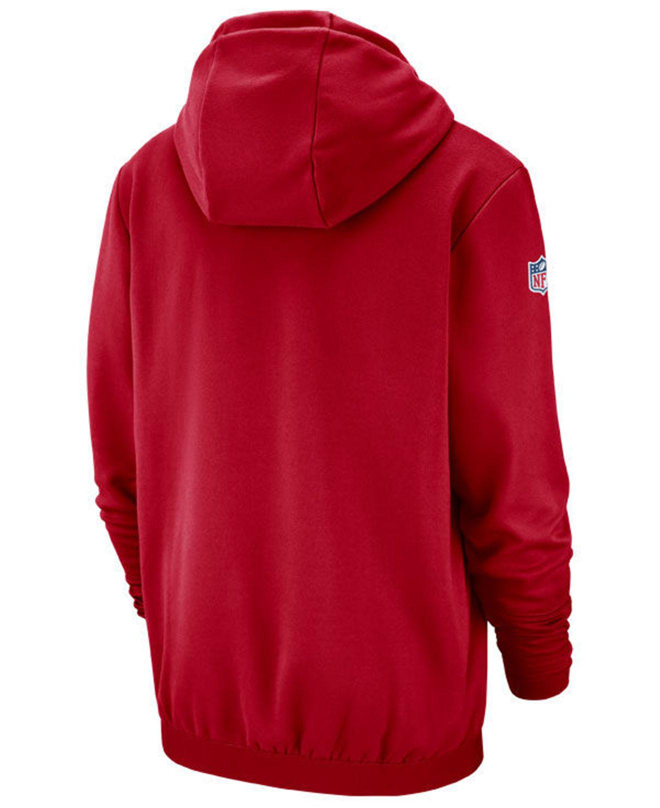e65597095 Lyst - Nike Buffalo Bills Sideline Player Local Therma Hoodie in Red ...