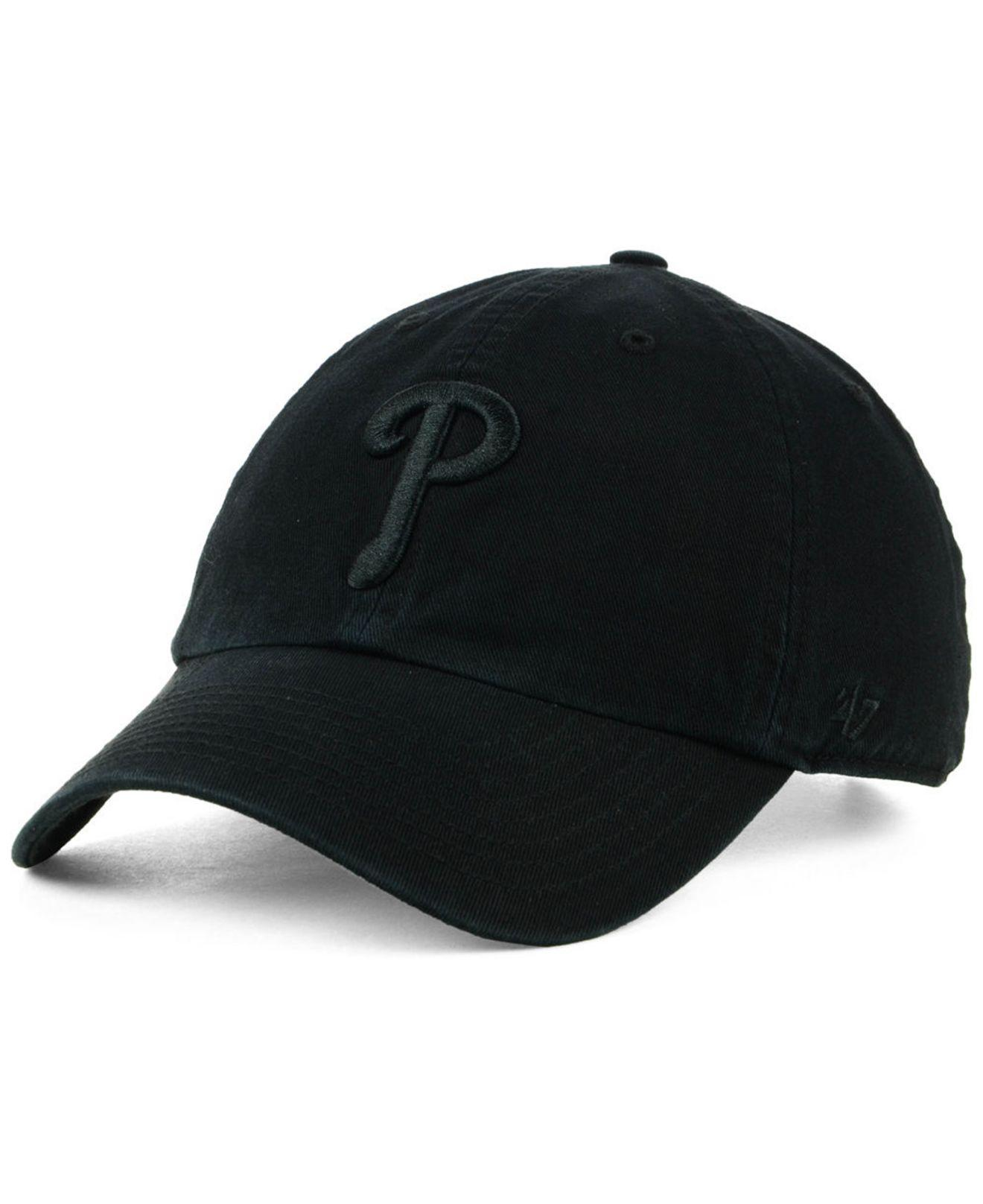 Lyst - 47 Brand Philadelphia Phillies Black On Black Clean Up Cap in ... eb513f9dd887