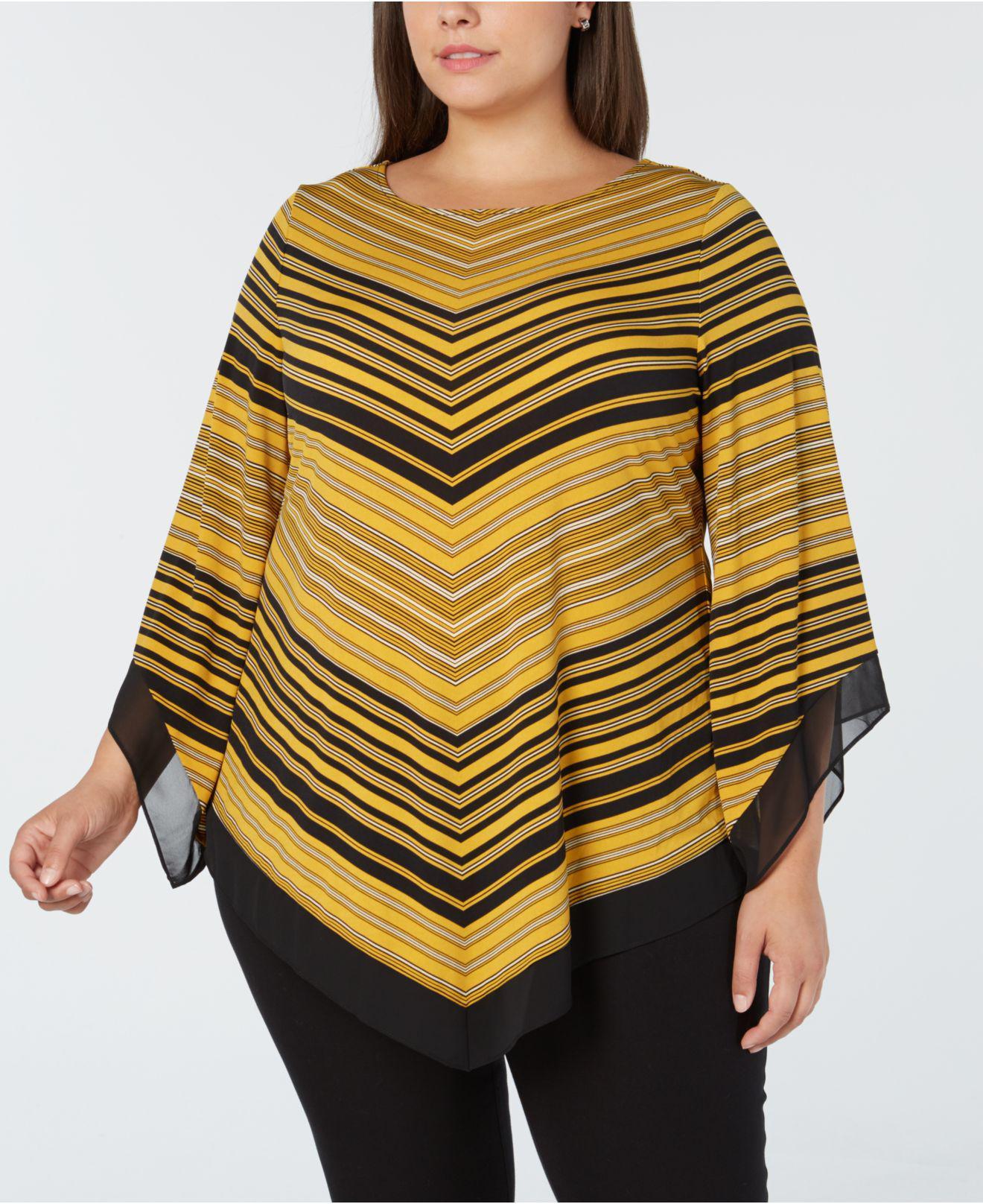 f9c7dc5ae86 Alfani. Women s Yellow Plus Size Asymmetrical-hem Top ...