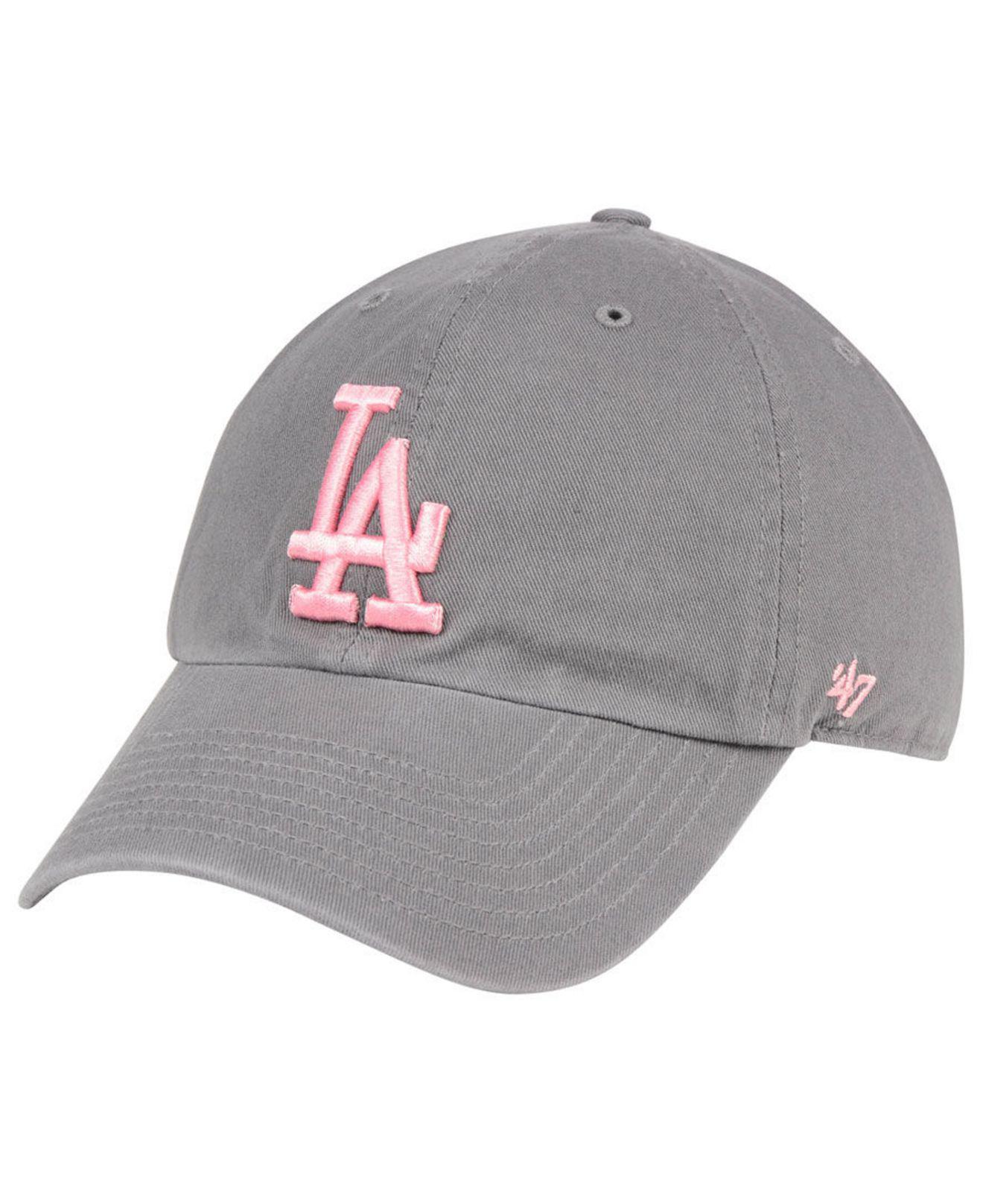 best website 0995c 0ada8 ... france 47 brand. womens los angeles dodgers dark gray pink clean up cap  965d2 8461d