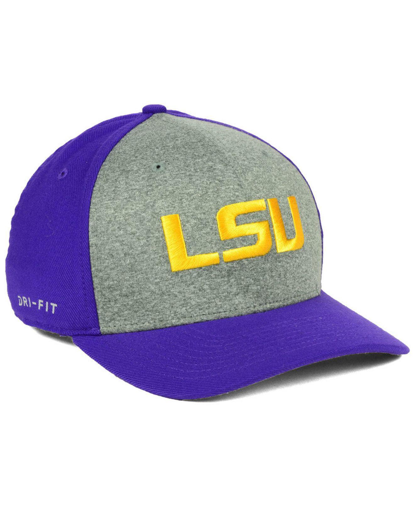 cf3ddfe395d ... new zealand nike purple lsu tigers legend swooshflex cap for men lyst.  view fullscreen 65fac