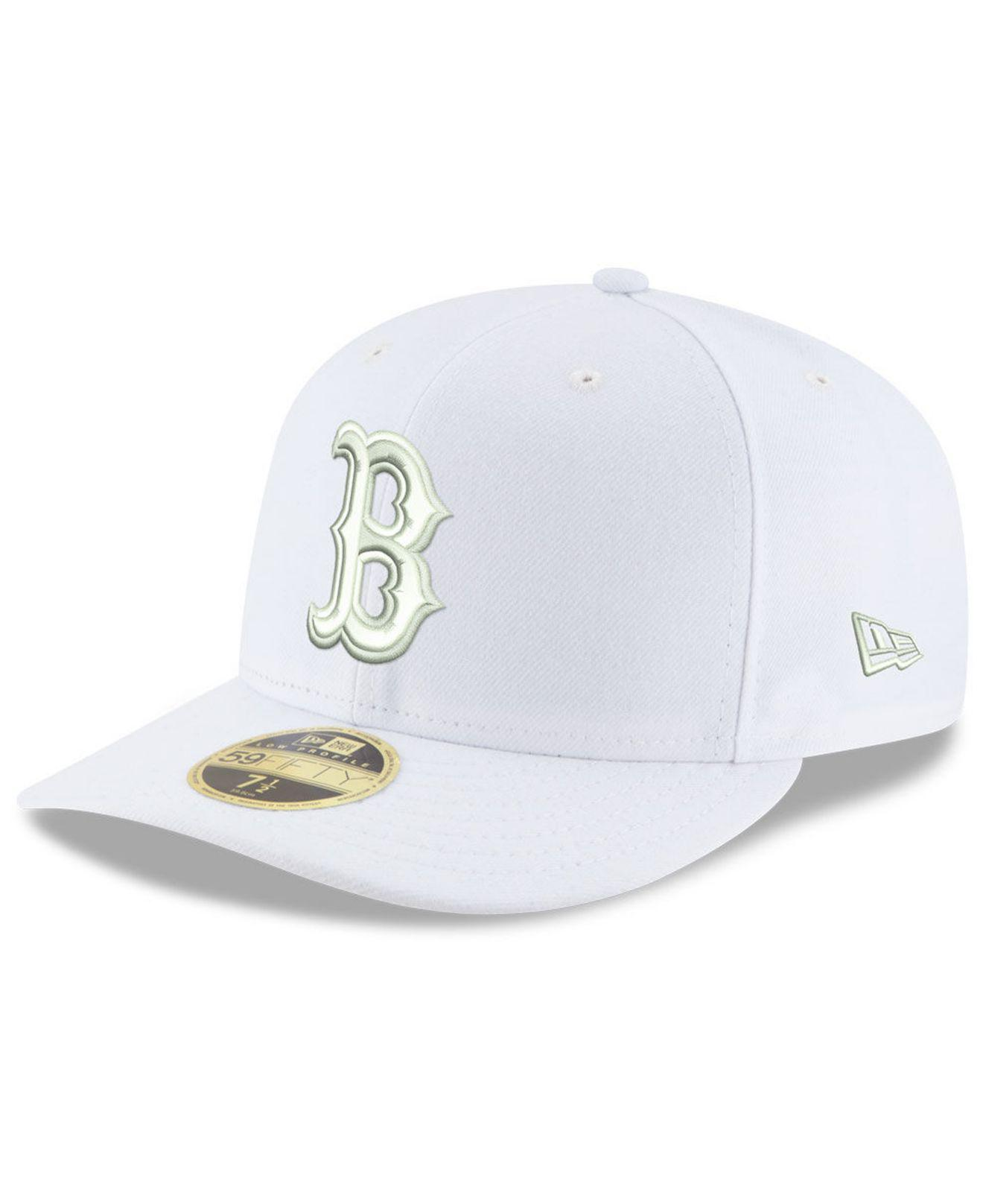new arrival bd01e 64302 KTZ - Boston Red Sox Triple White Low Profile 59fifty Fitted Cap for Men -  Lyst. View fullscreen