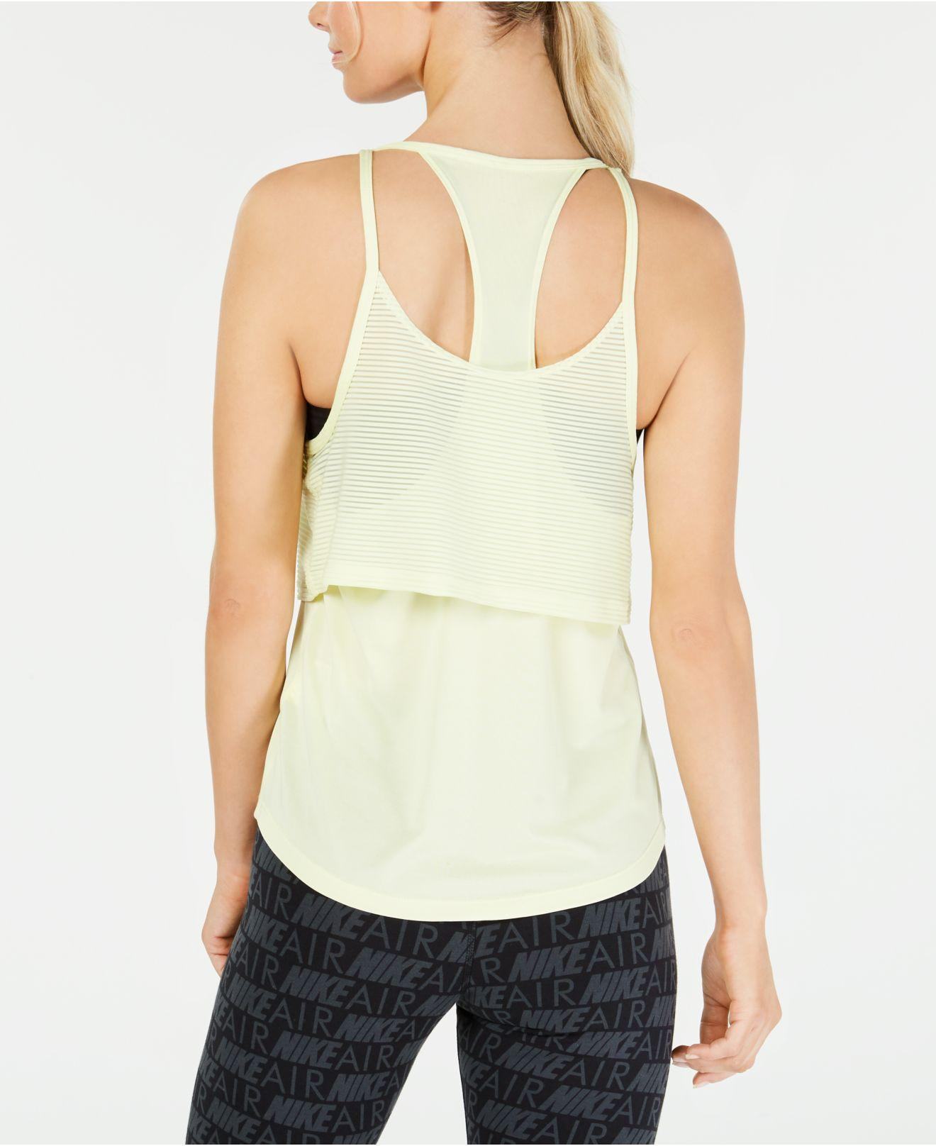 002bc746bc172 Lyst - Nike Air Layered Racerback Tank Top in Green