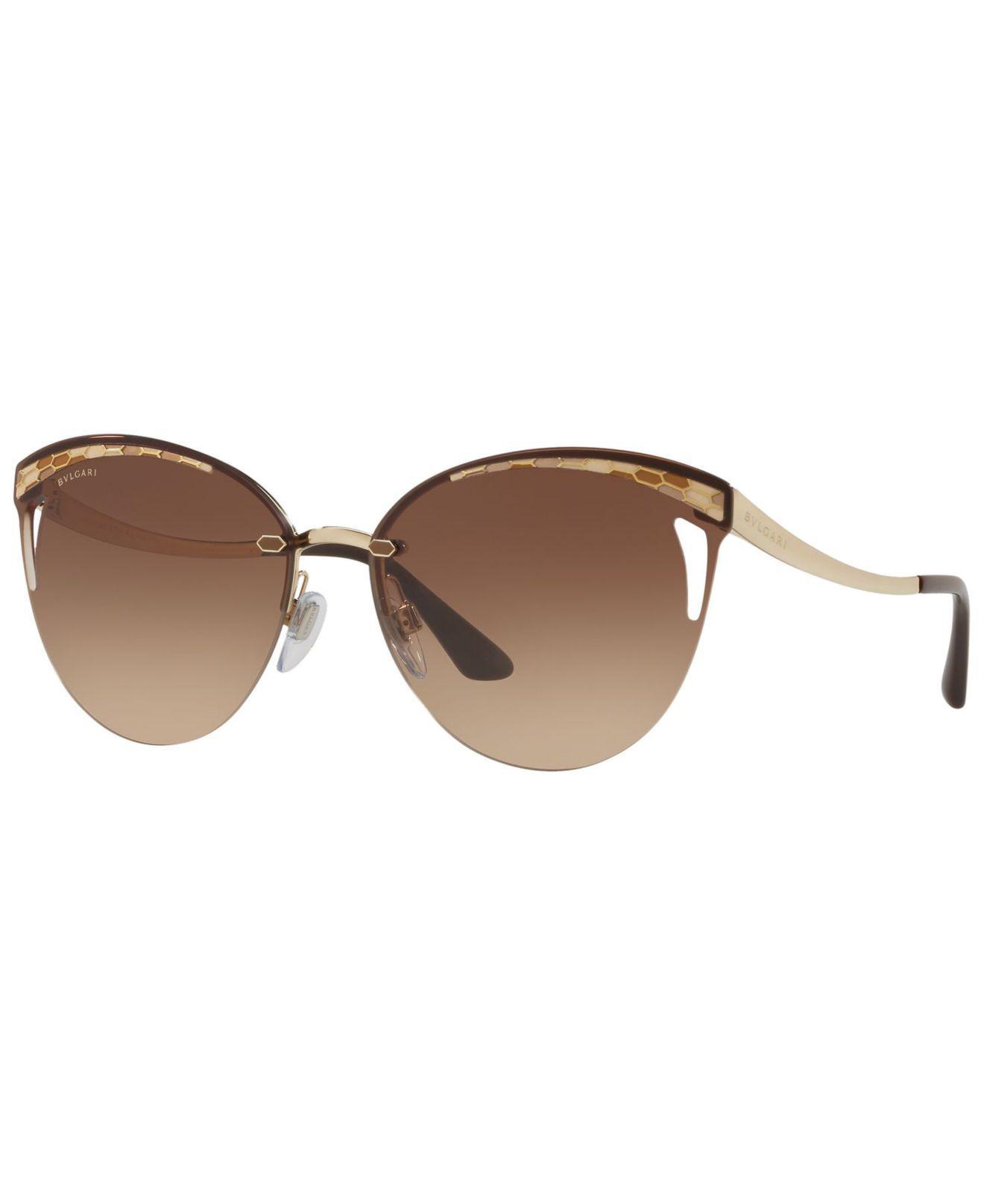 0125758370 BVLGARI. Women s Brown Sunglasses ...