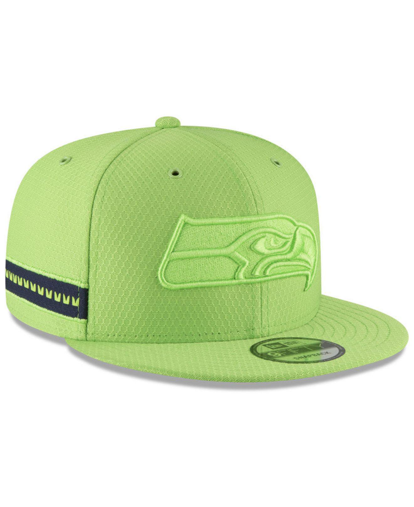 b95810e03 Lyst - KTZ Seattle Seahawks On Field Color Rush 9fifty Snapback Cap ...