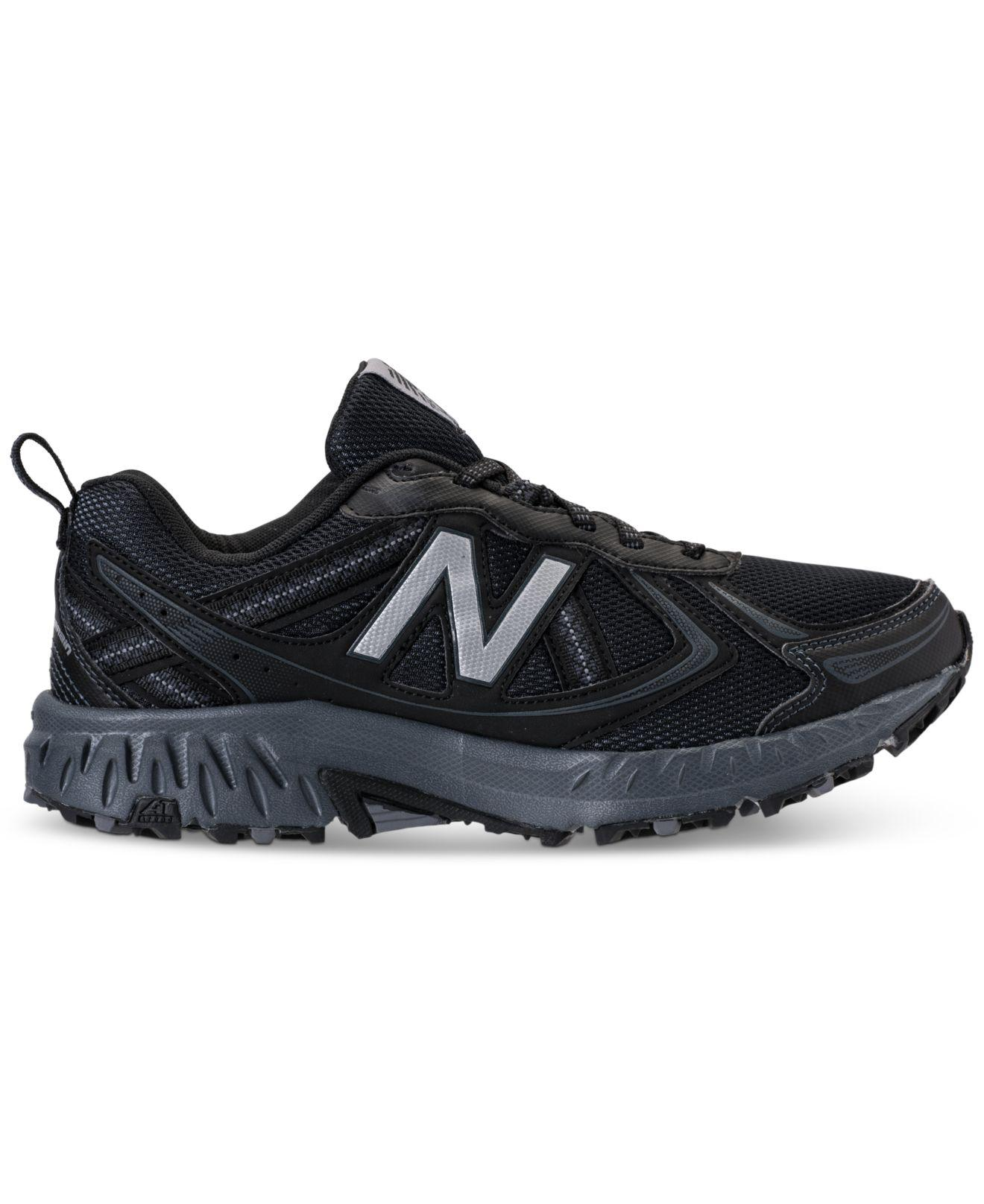 b0ead603a Lyst - New Balance Men s Mt410 V5 Wide Running Sneakers From Finish Line in  Black for Men