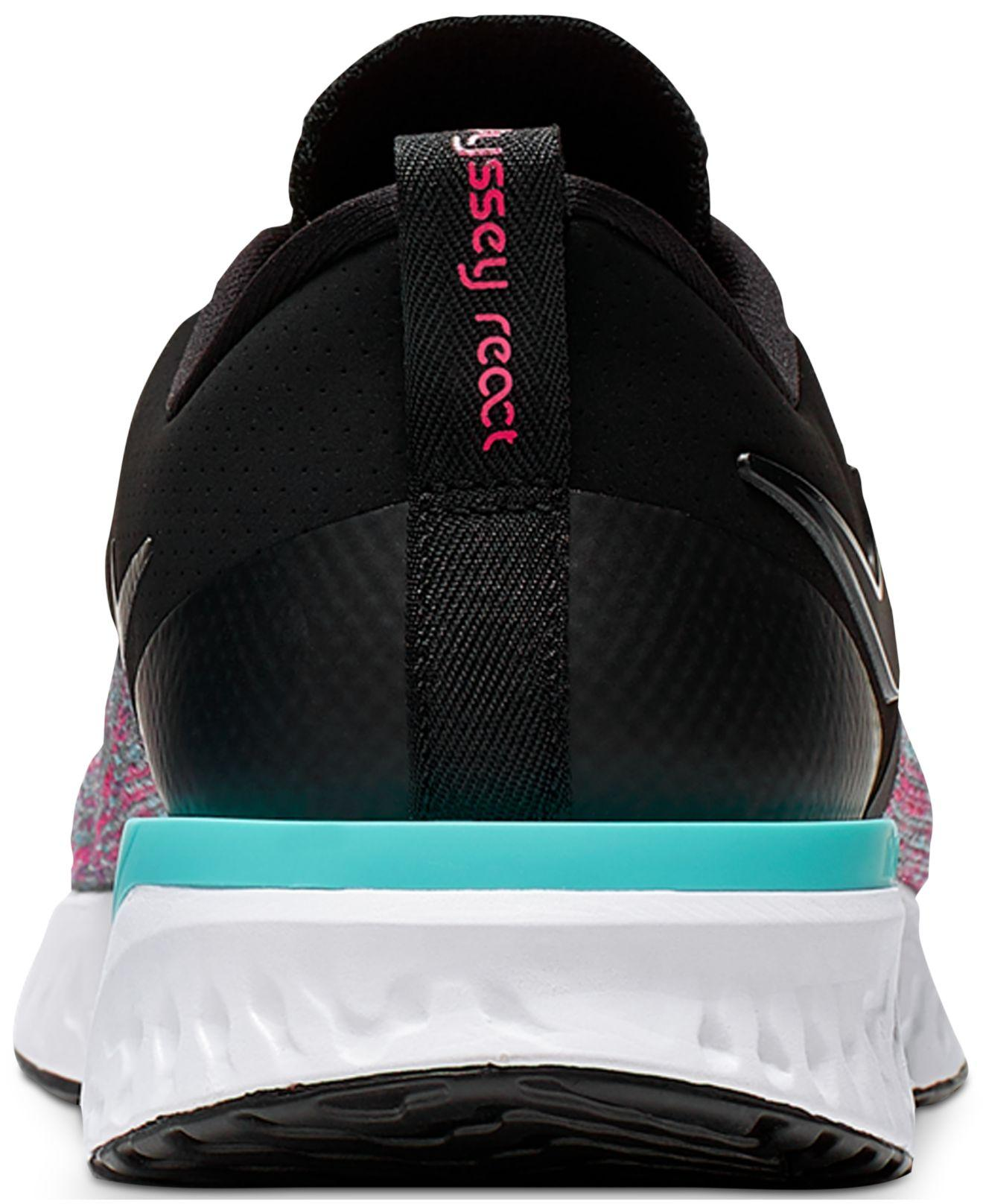 06332b306d45 Lyst - Nike Odyssey React Flyknit 2 Running Sneakers From Finish Line in  Black