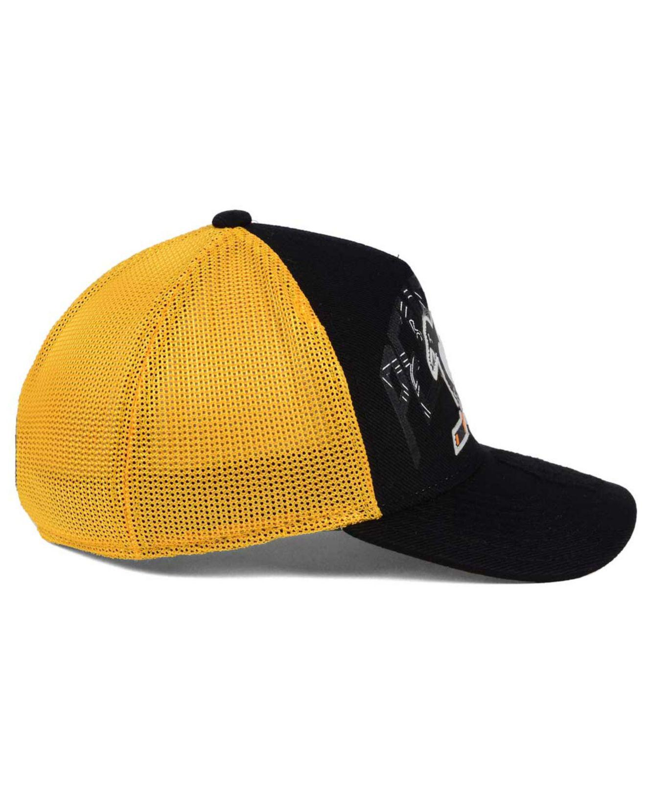 save off 6d276 bcb05 spain spain yellow black mens pittsburgh penguins adidas nhl 100th  celebration structured flex cap 20925371 2018 new f0721 f9899  hot lyst  reebok pittsburgh ...